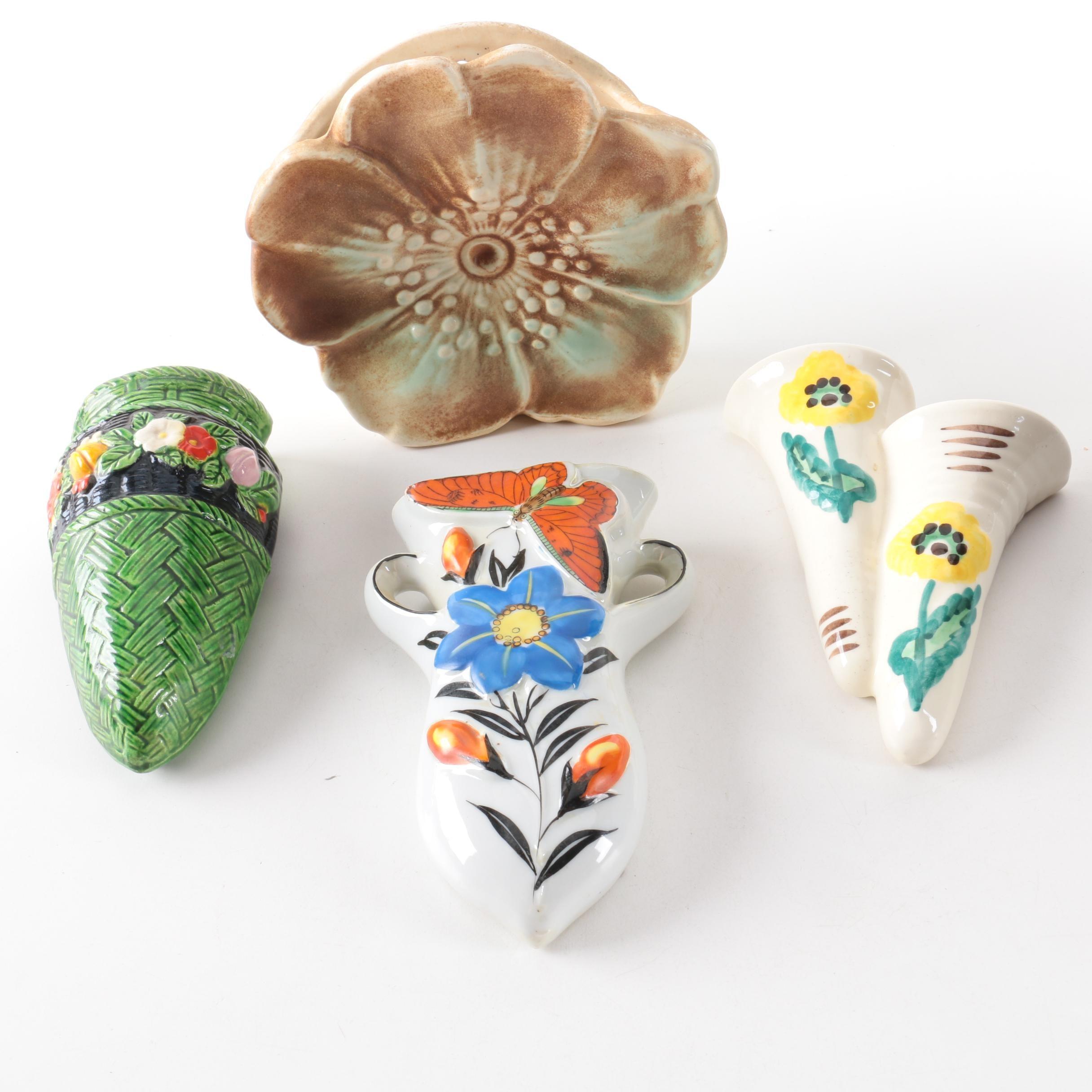 Vintage Ceramic Wall Pockets