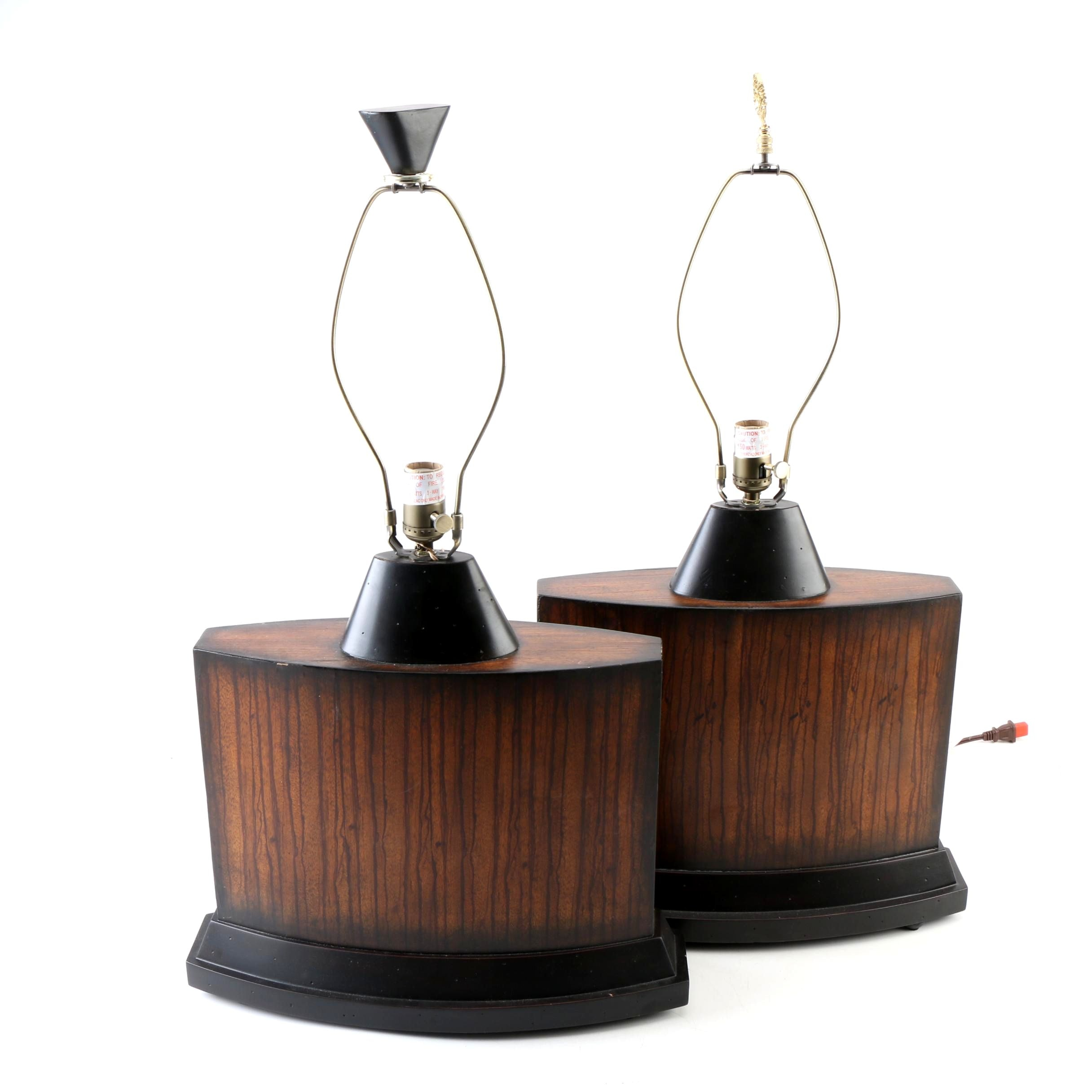 Pair of Uttermost Wooden Table Lamps