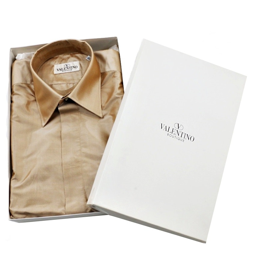 Mens Valentino Boutique Silk Dress Shirt