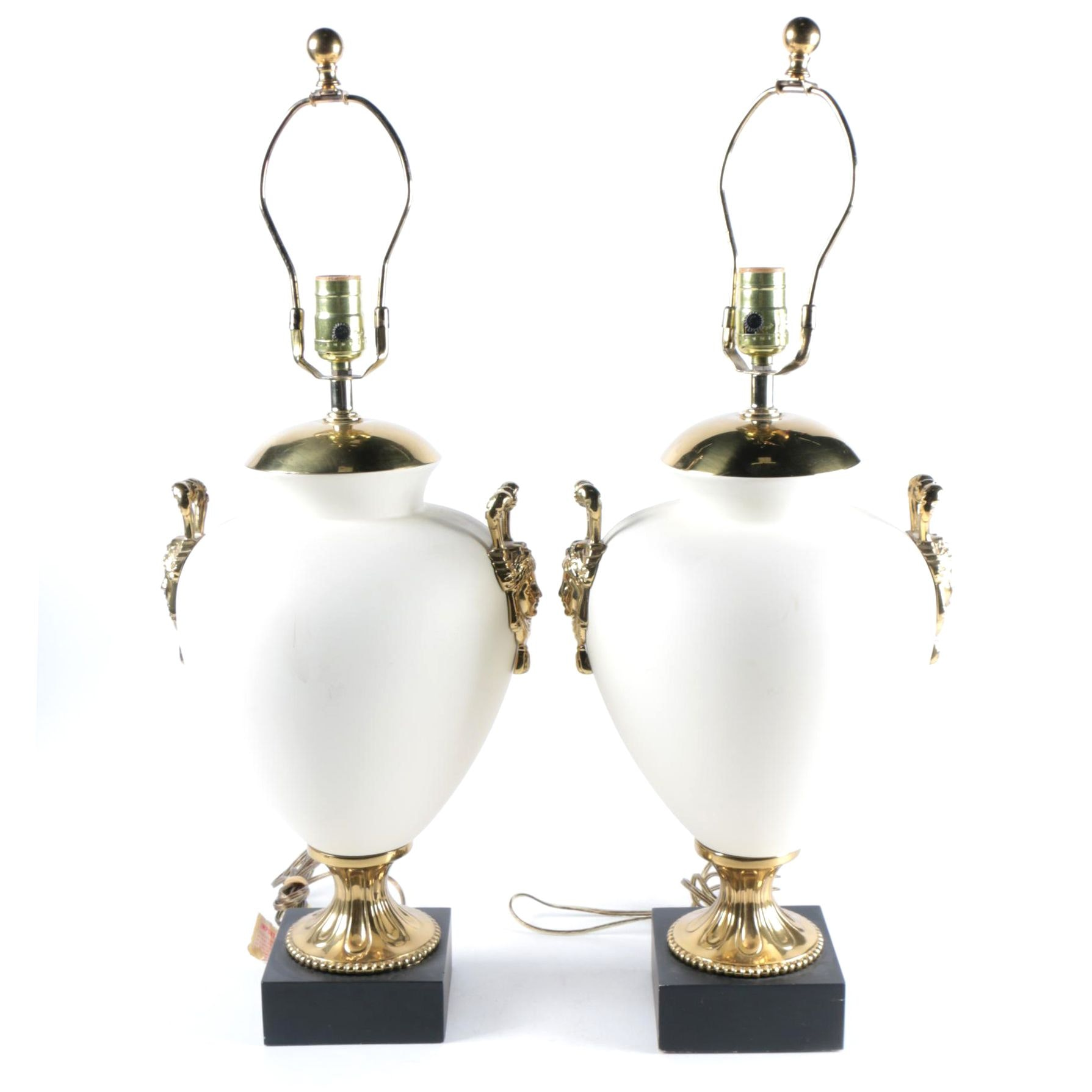 Pair of Table Lamps with Figural Accents