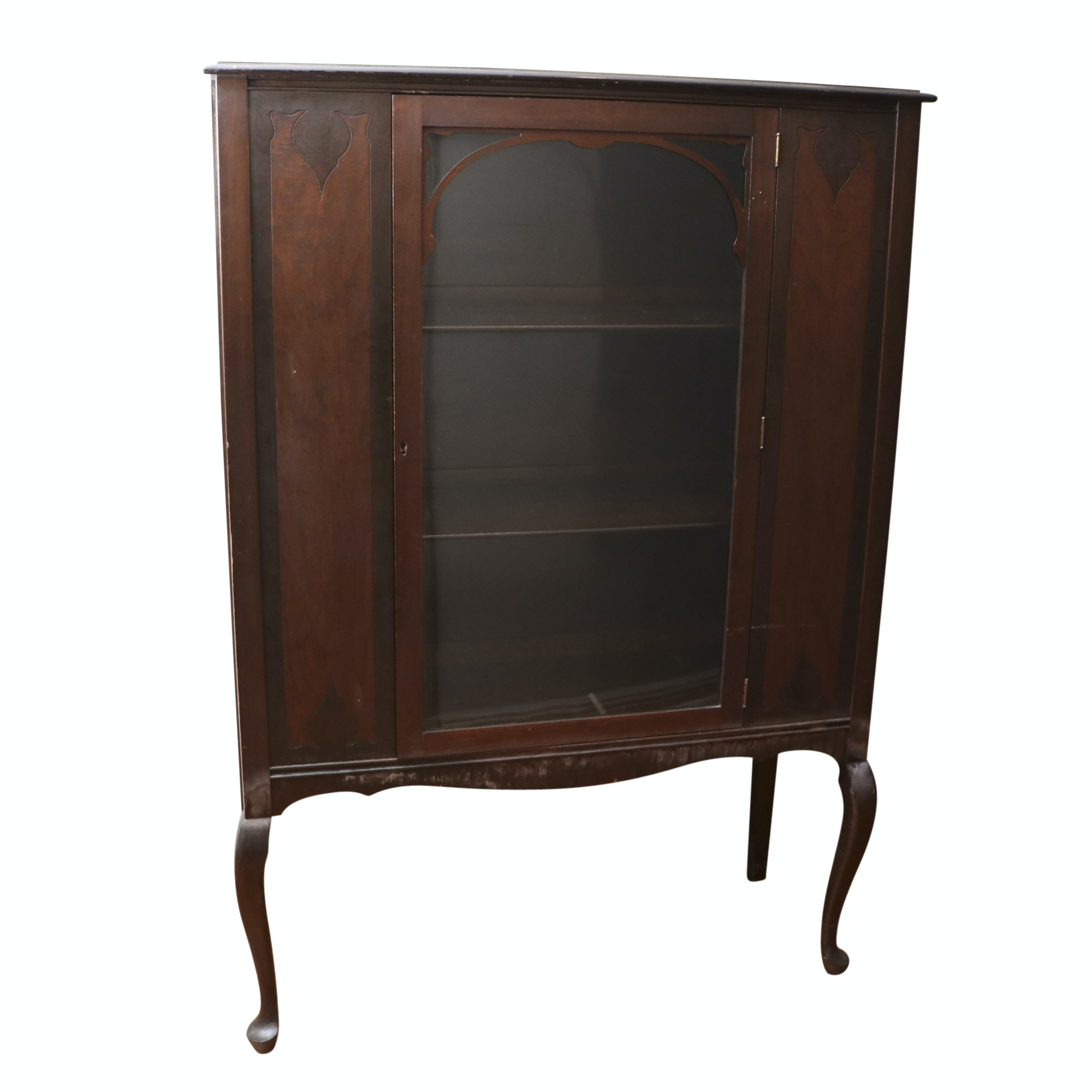 Vintage Walnut China Cabinet by Wemyss Furniture