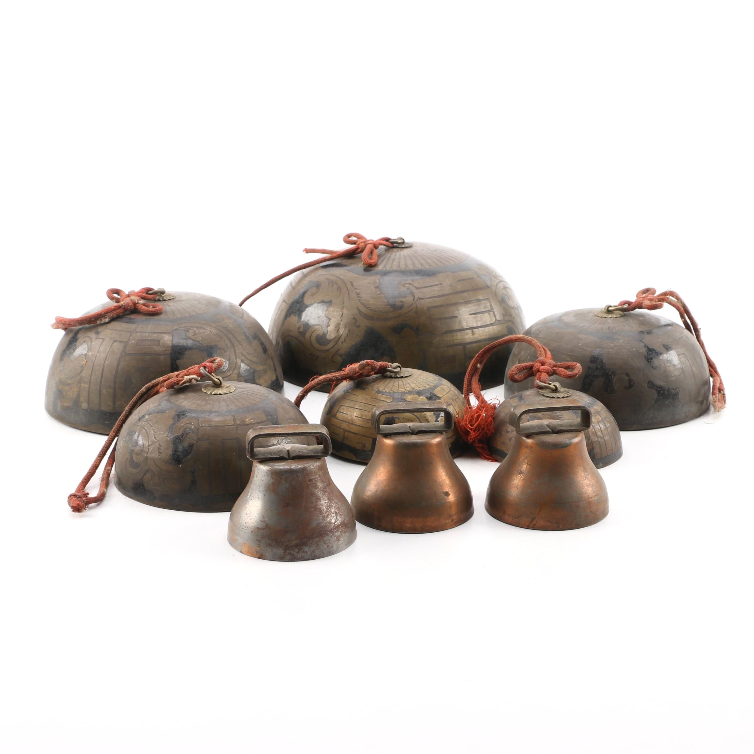 Japanese Graduated Metal Temple Bells