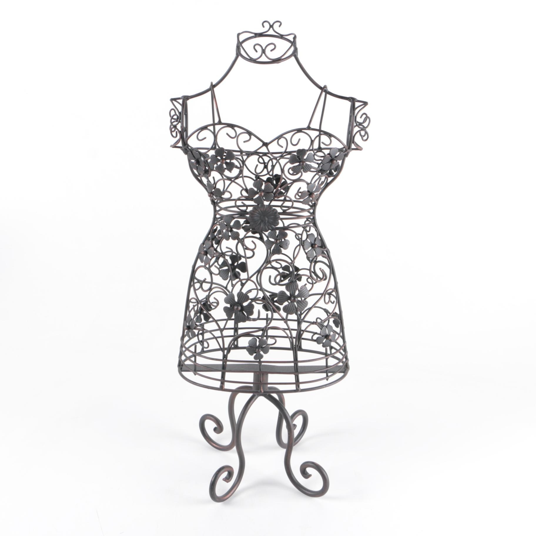 Black Metal Decorative Dress Form Mannequin
