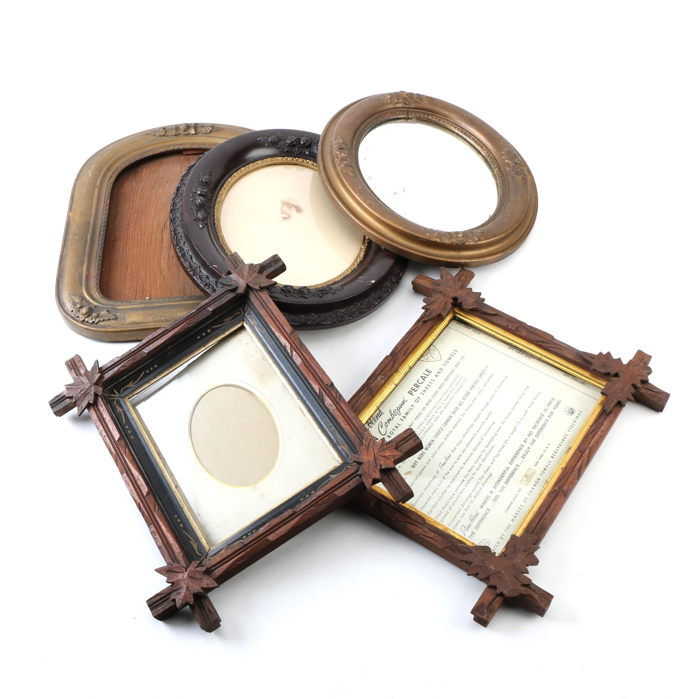 Assorted Wood Wall Frames