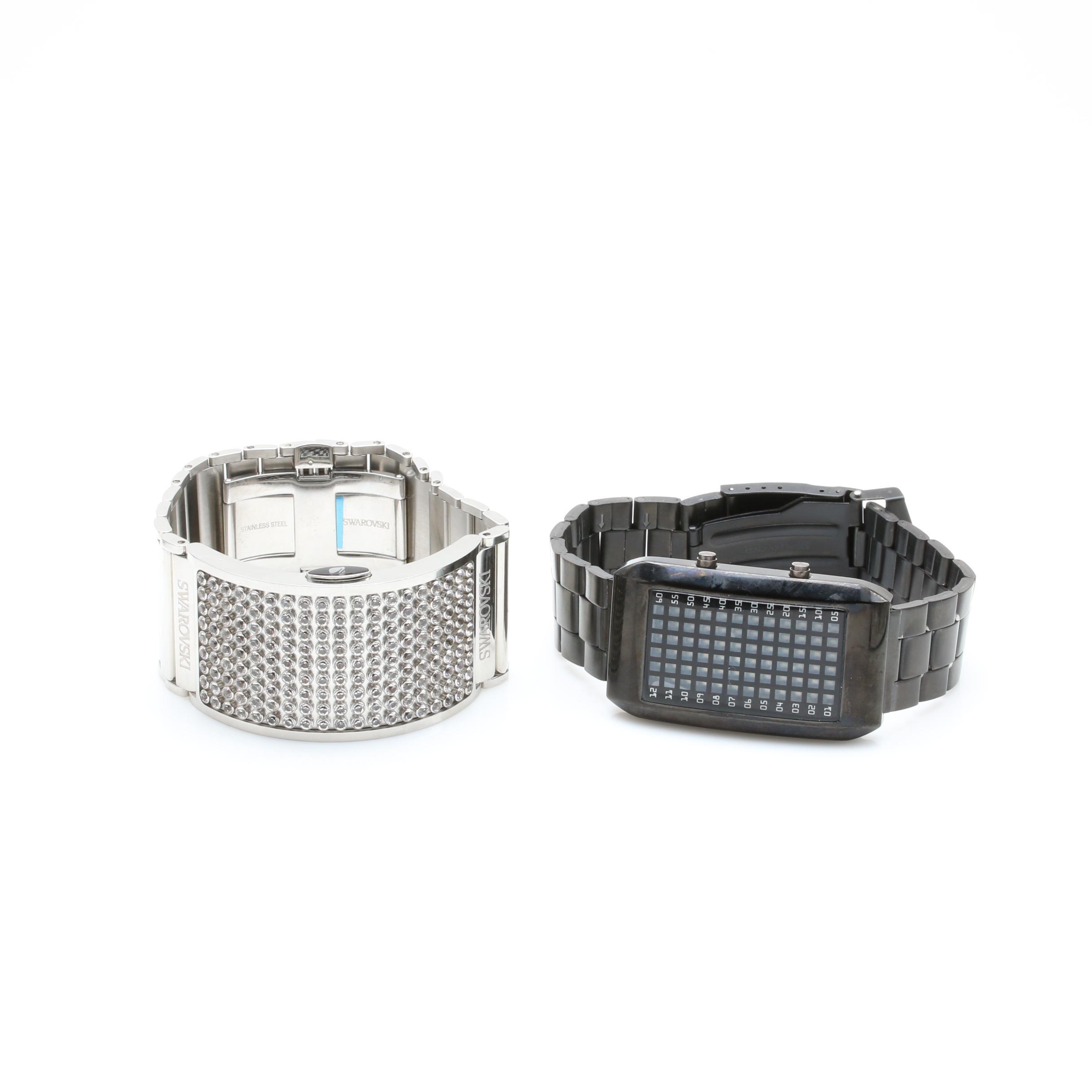 Swarovski and Digital Stainless Steel Wristwatches