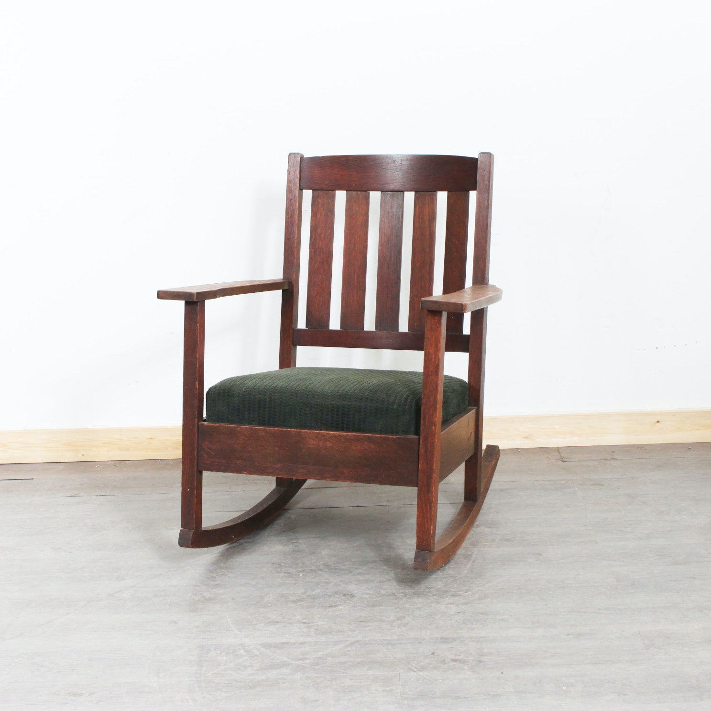 Limberts Arts and Crafts Oak Rocking Chair