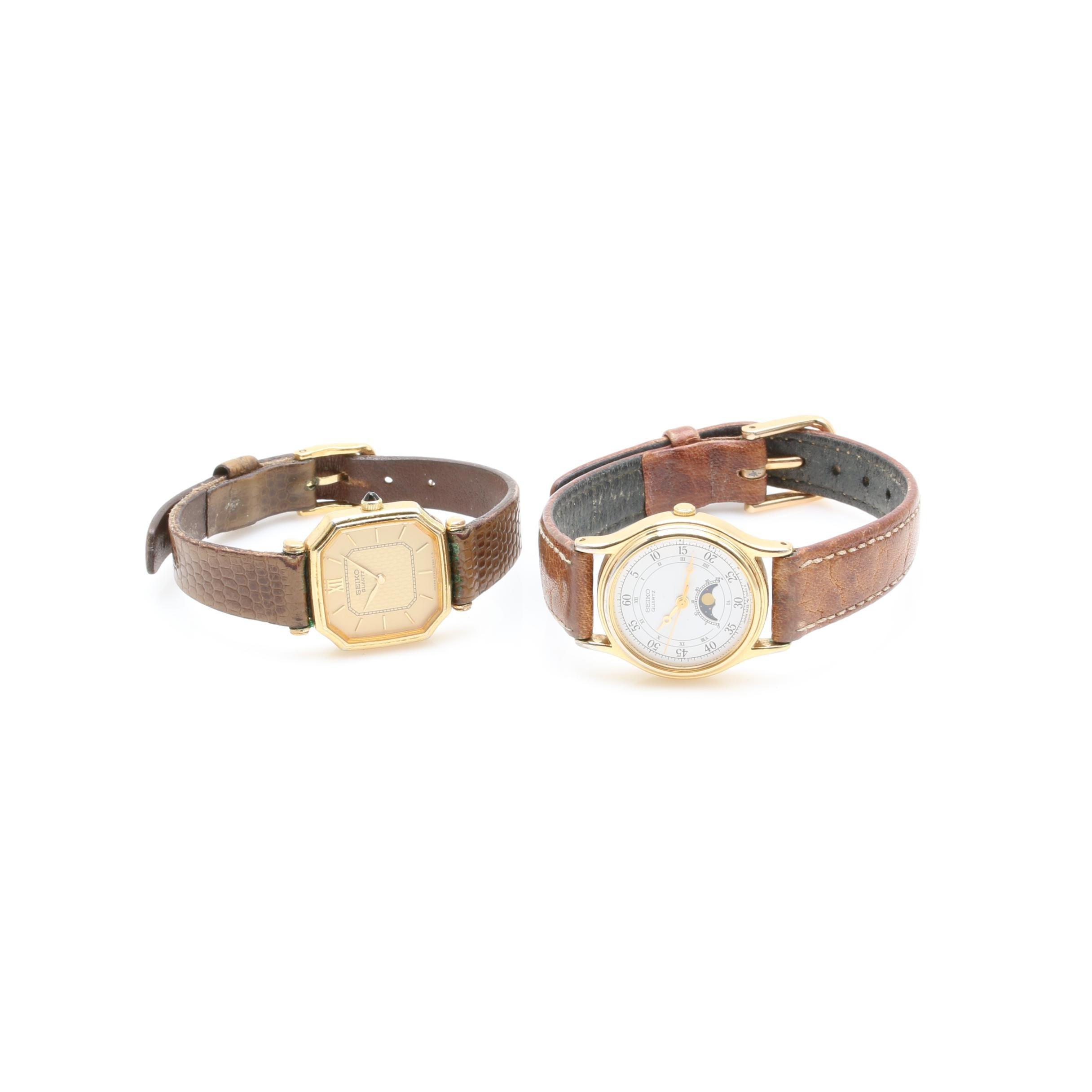 Seiko Gold Tone Wristwatch Assortment