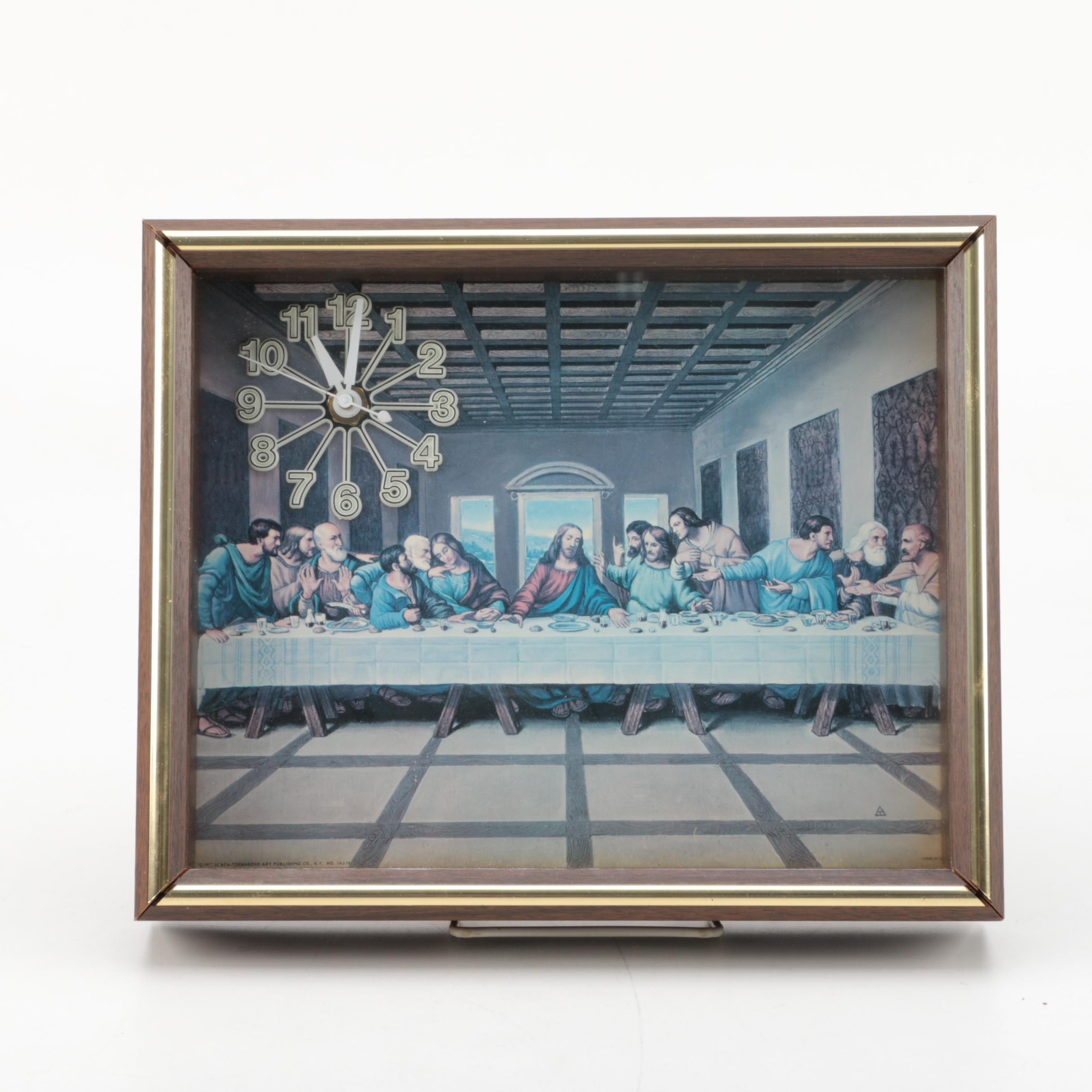 """Vintage """"The Last Supper"""" Wall Clock"""