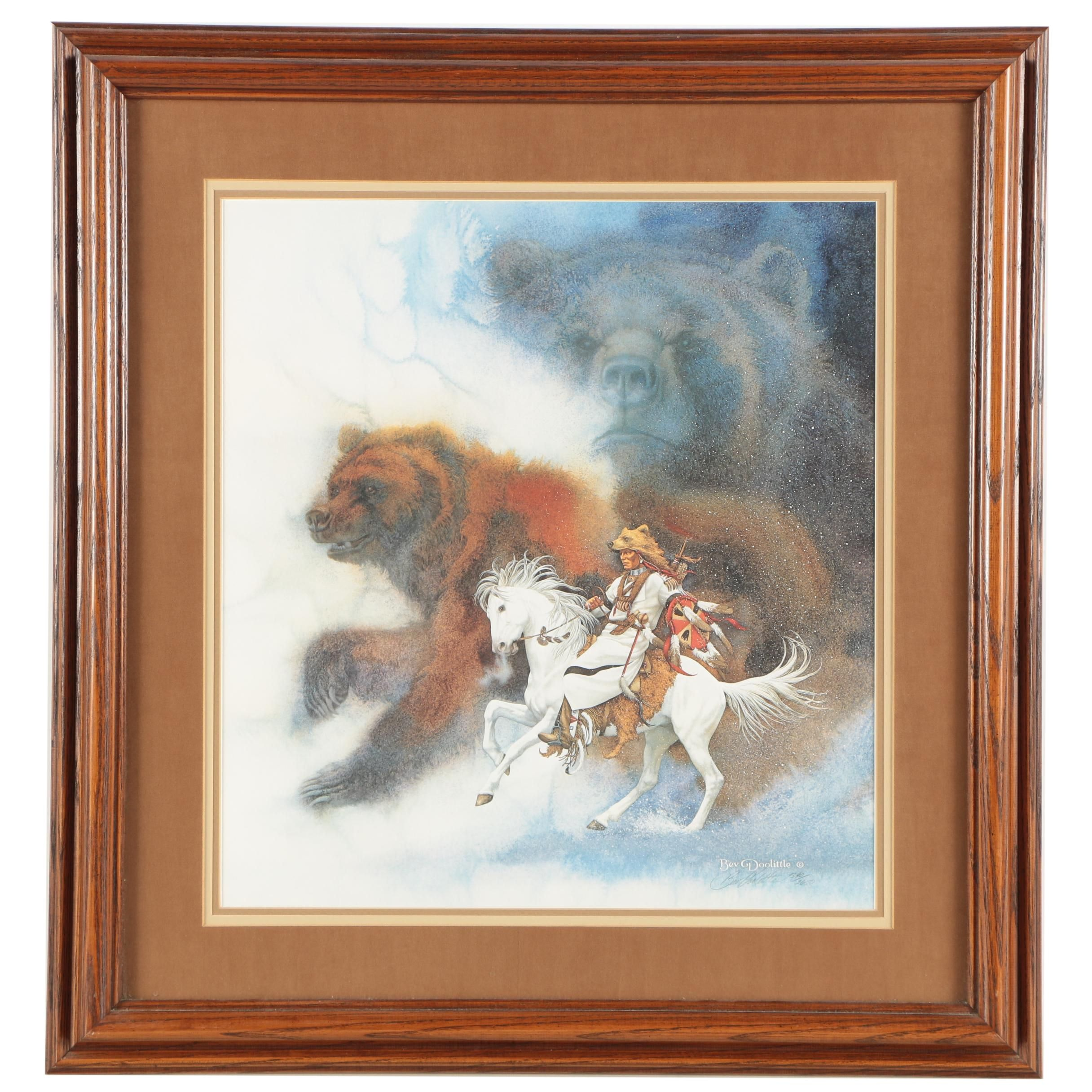 """Bev Doolittle Limited Edition Offset Lithograph """"The Bears of the Blackfeet"""""""
