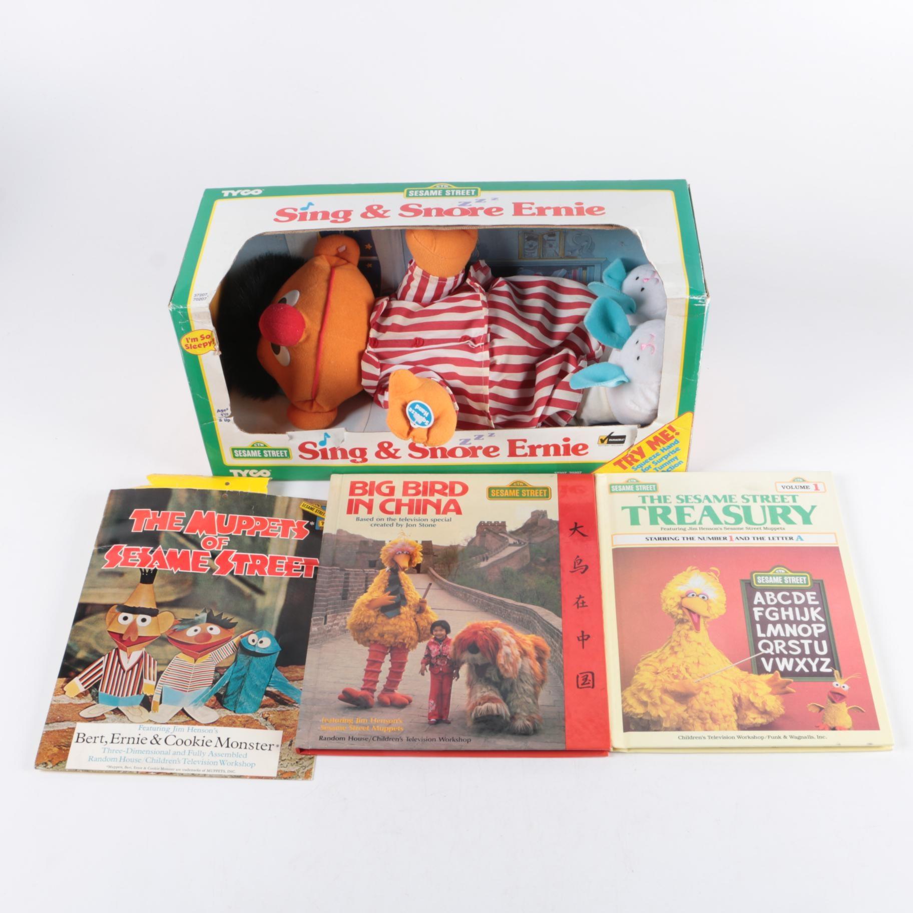 "Vintage ""Sesame Street"" Toys and Books"