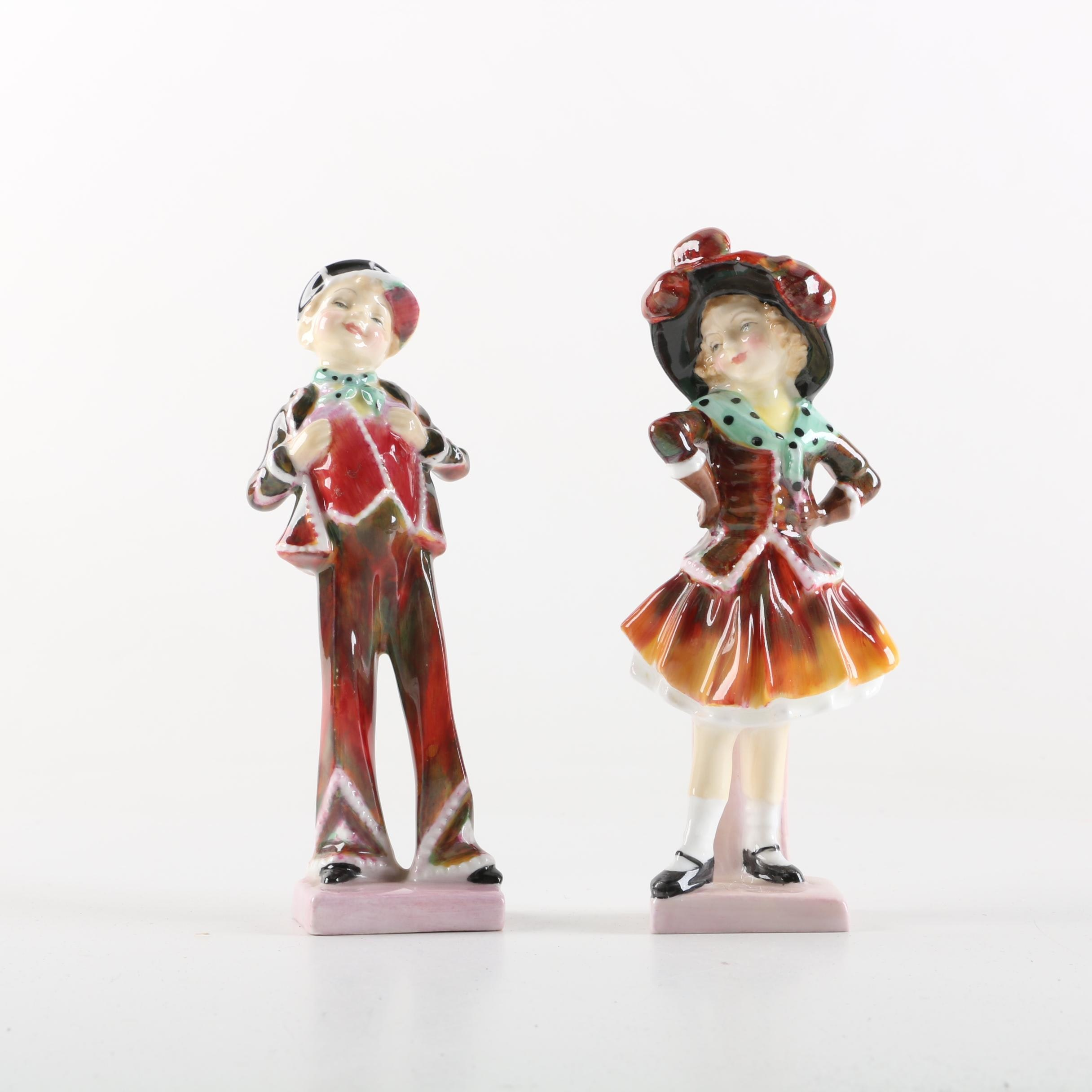 """Royal Doulton """"Pearly Boy"""" and """"Pearly Girl"""" Figurines"""