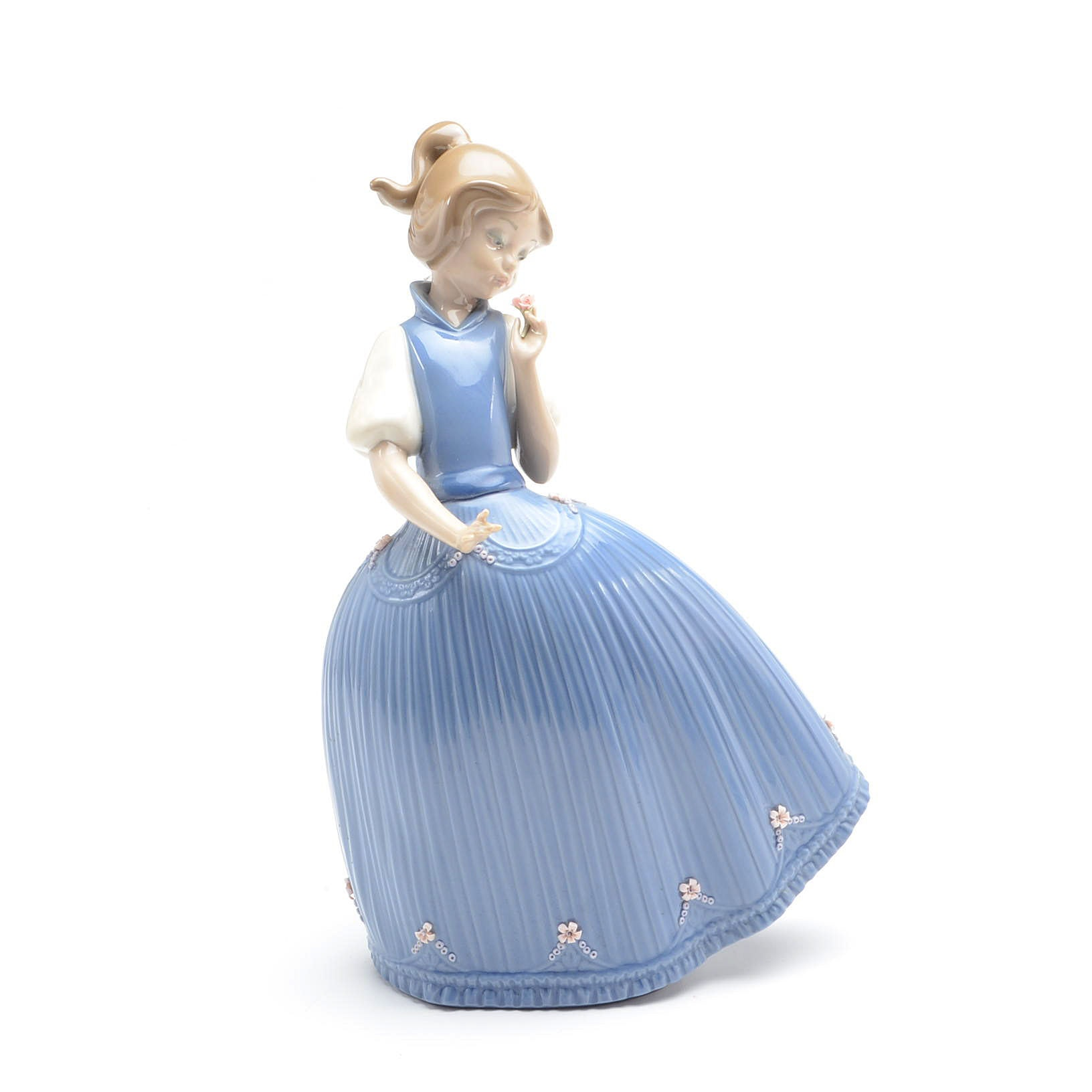 "Lladro Porcelain Figurine - ""Girl in the Blue Dress"" #5121"