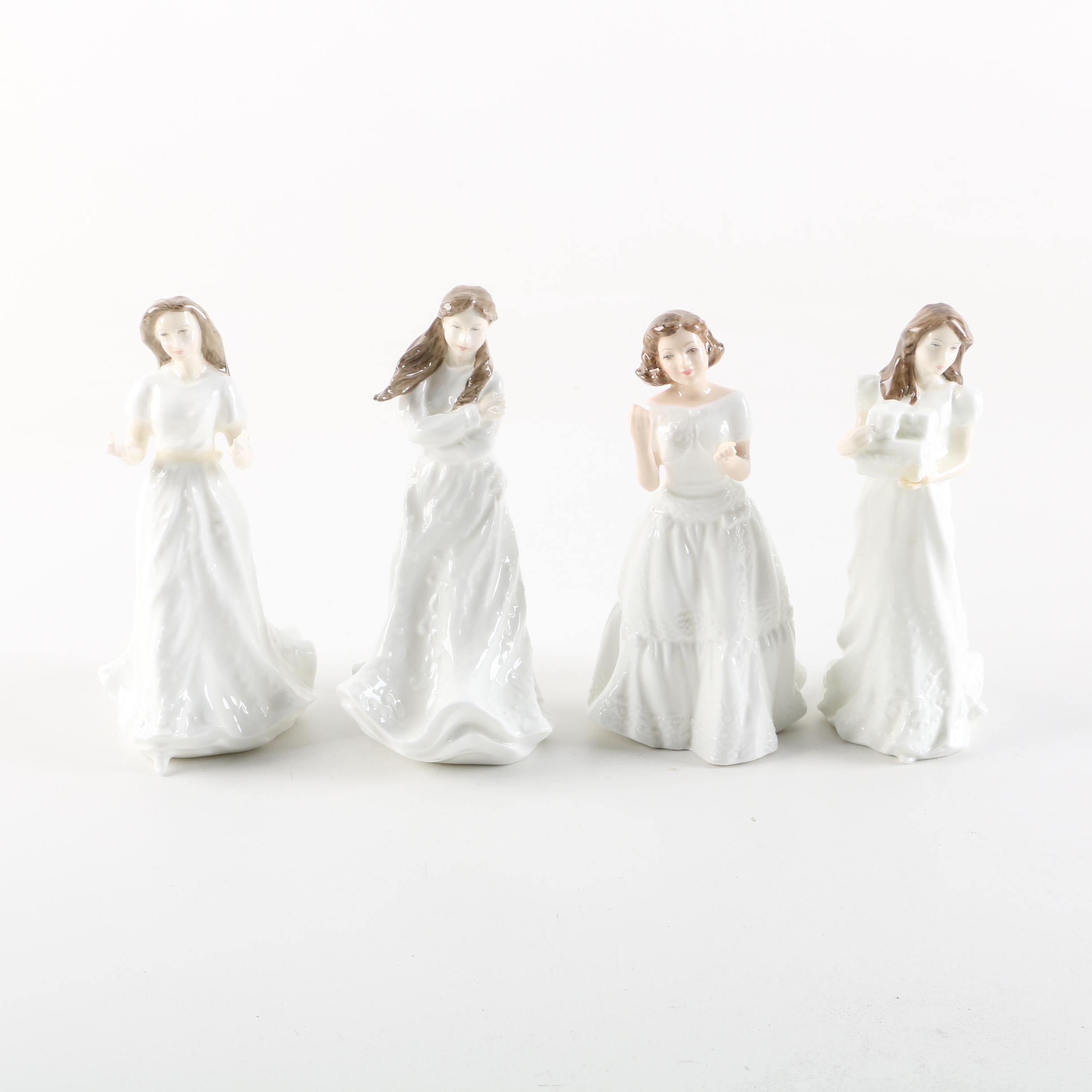 Royal Doulton Sentiments Series Porcelain Figurines, Circa 1940s