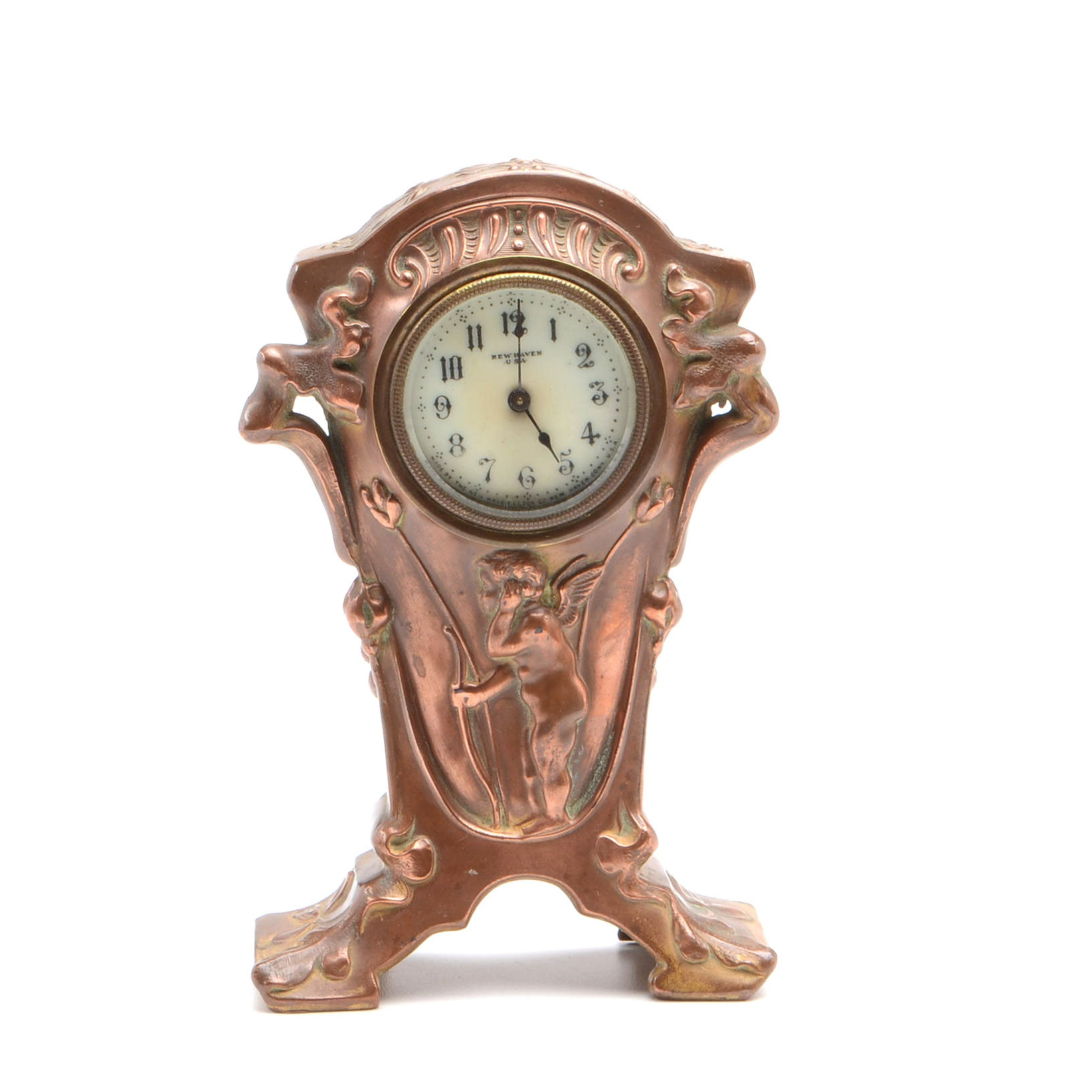 Vintage Art Nouveau New Haven Clock