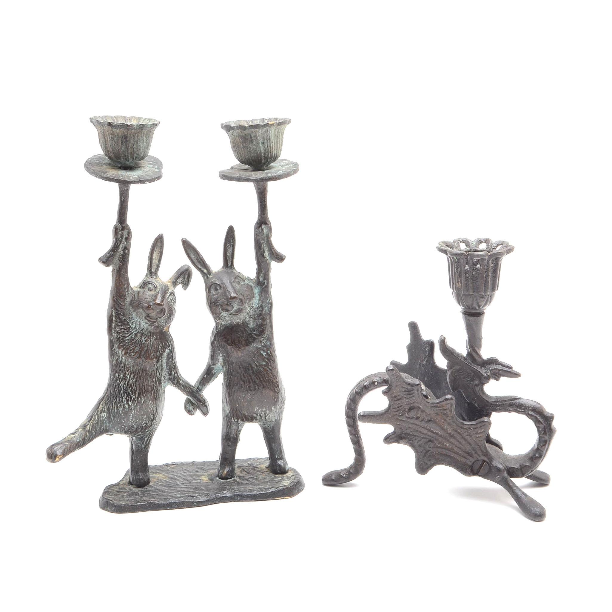 Vintage Figural Candlestick Holders