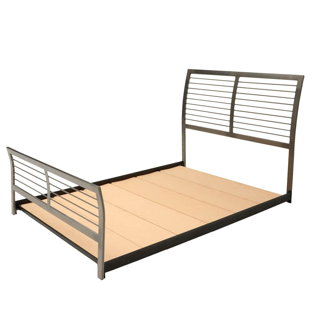 Contemporary Platform Queen Bed Frame by Amisco