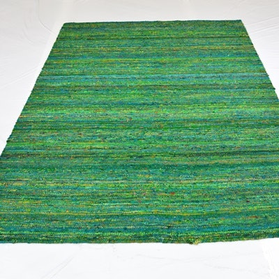 Handwoven Reversible Sari Silk and Synthetic Area Rug