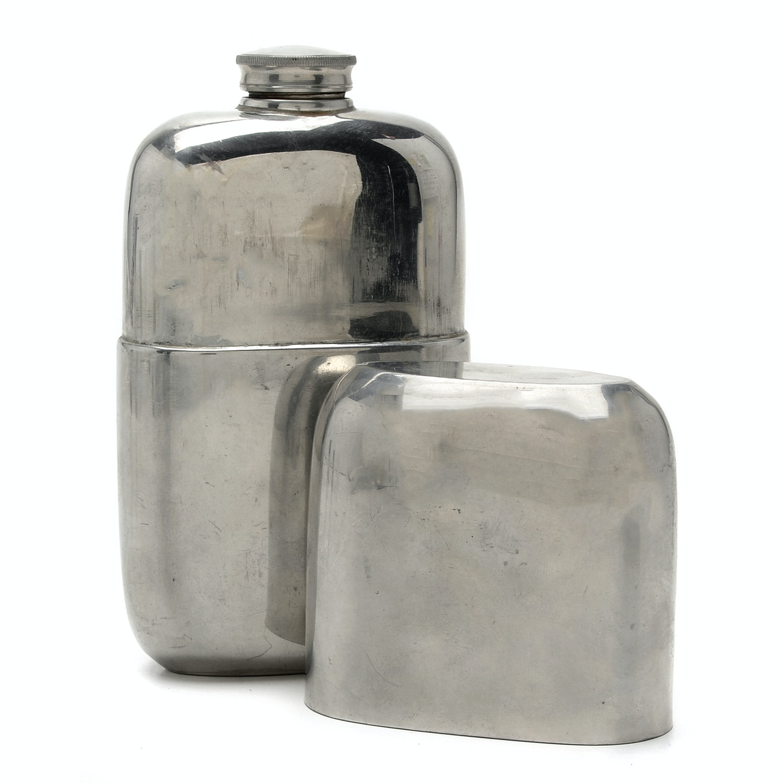 Vintage James Dixon & Sons Silver Plate Flask for Abercrombie & Fitch