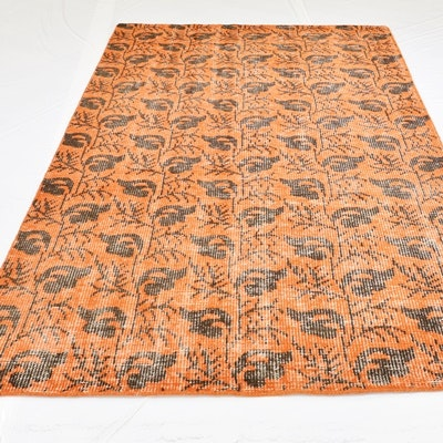 Hand-Knotted Arts and Crafts Wool Area Rug