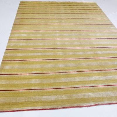 Hand Woven Tibetan Wool and Silk Area Rug