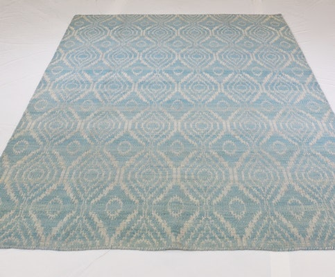 Hand Loomed Jacquard Reversible Wool Area Rug