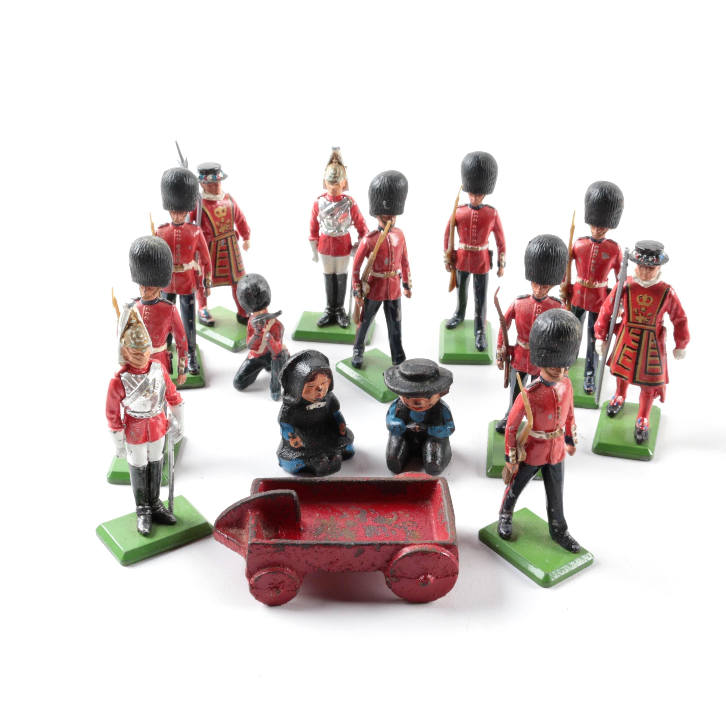 Metal British Palace and Tower Guard Figurines by Britains