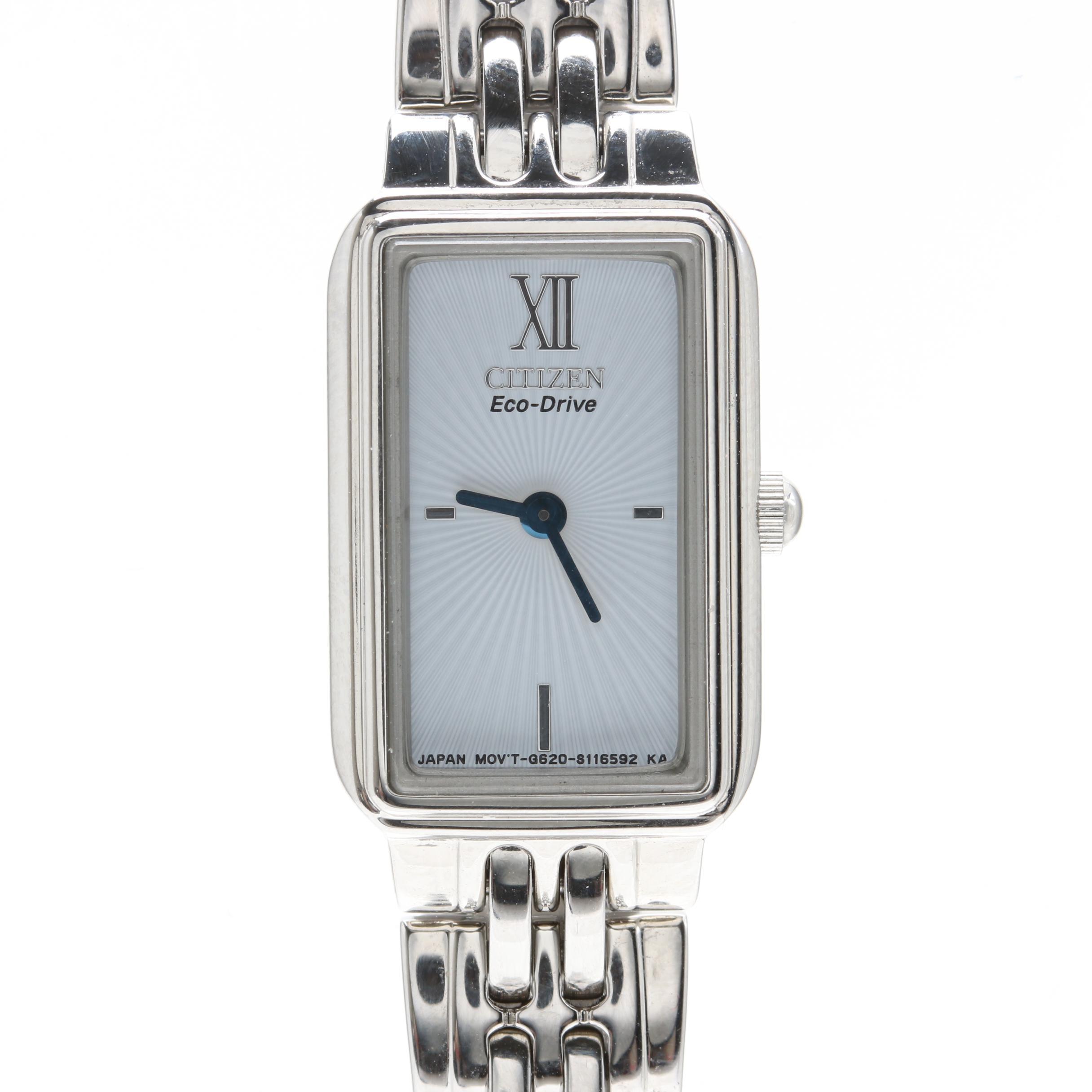 Citizen Silver Tone Eco-Drive Wristwatch