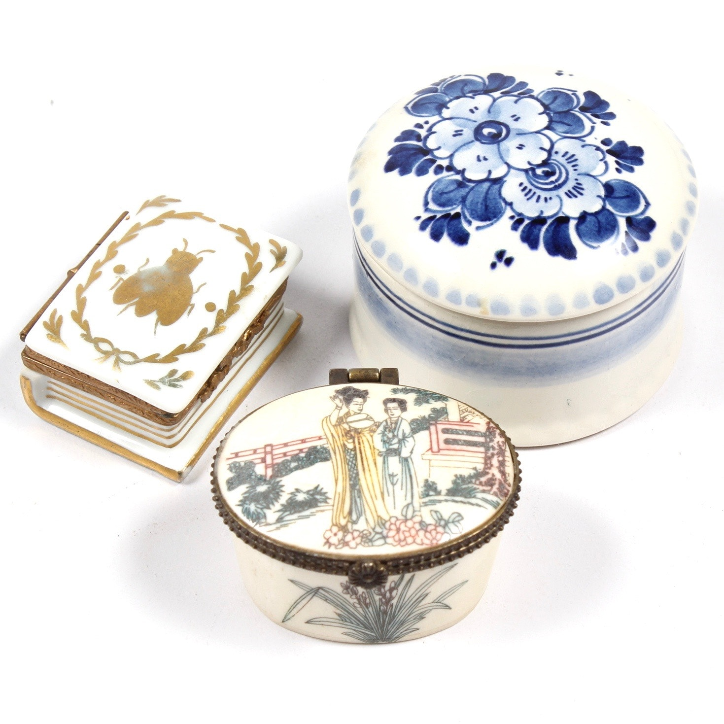 Trinket Boxes Featuring Delft