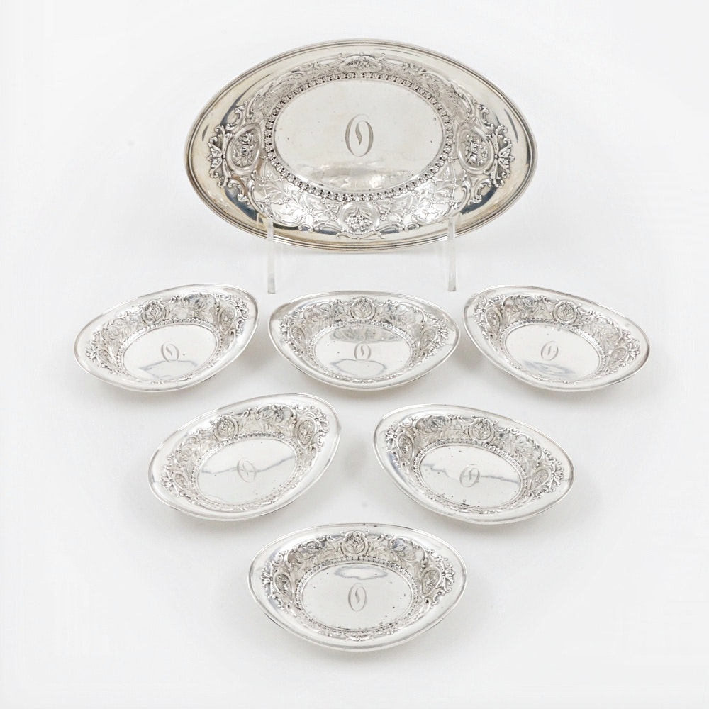 1909 Whiting Mfg. Co. Sterling Silver Nut or Candy Dishes
