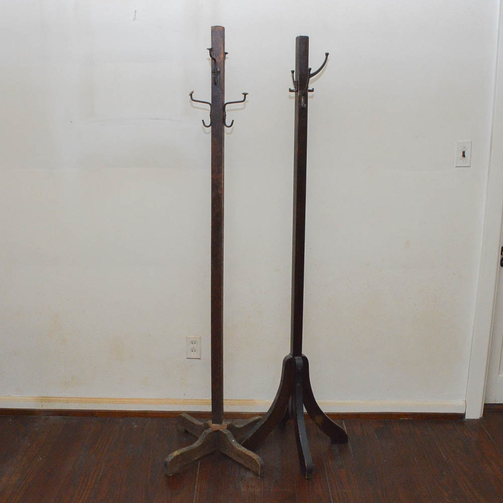 Two Arts and Crafts Coat Stands