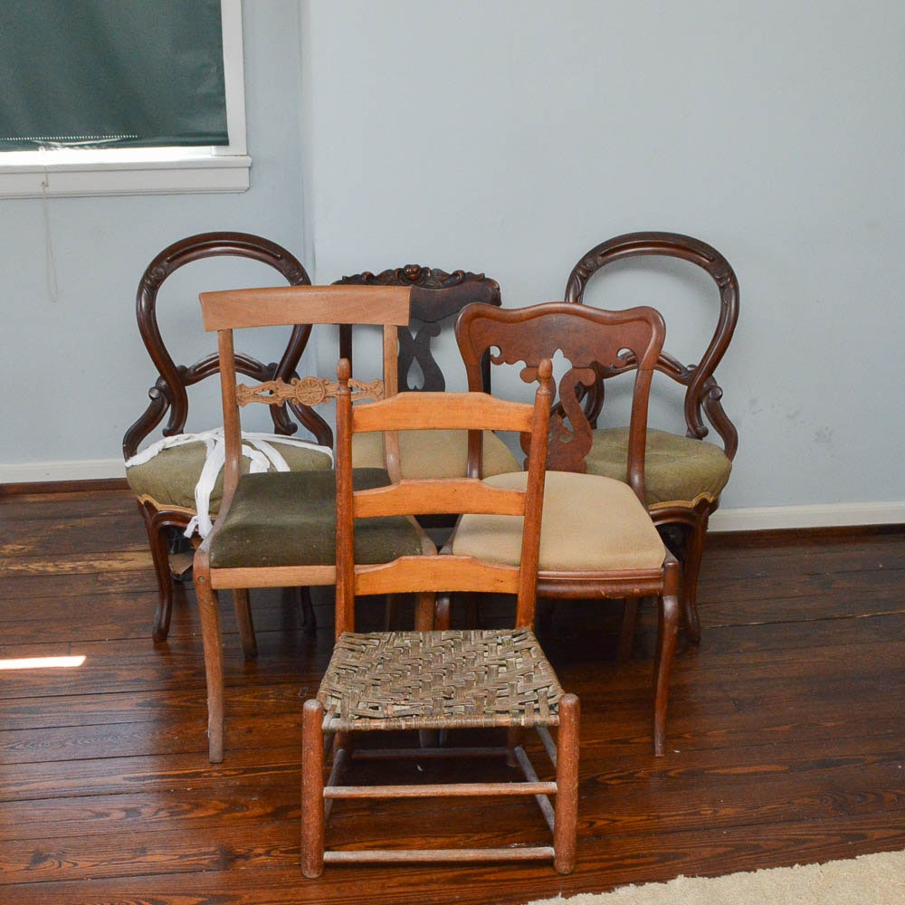 Six Varied Antique Side Chairs