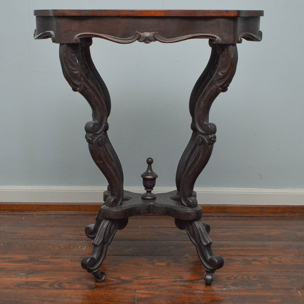 Antique Early Victorian Rosewood Side Table