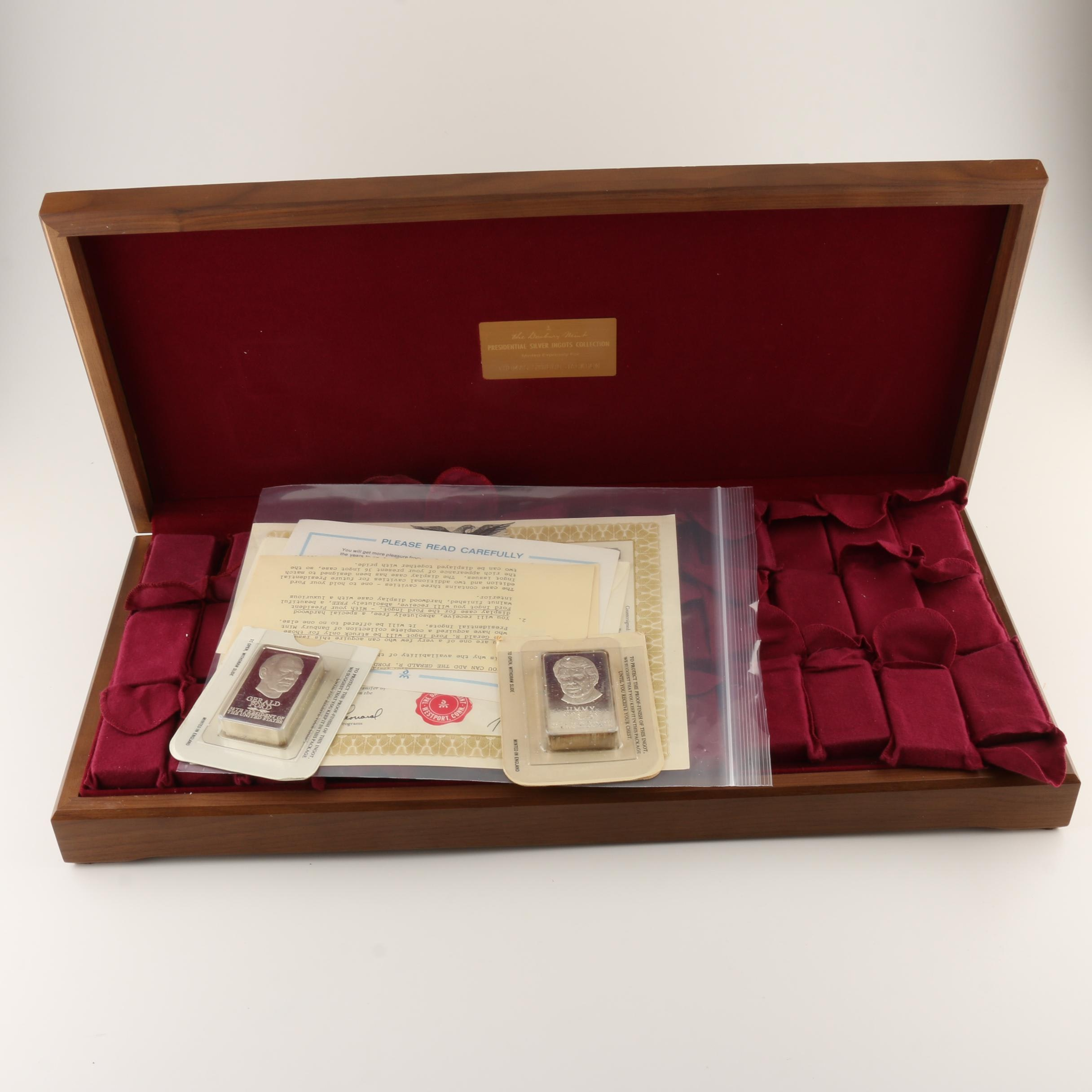 Danbury Mint U.S. Presidential Silver Ingots Collection