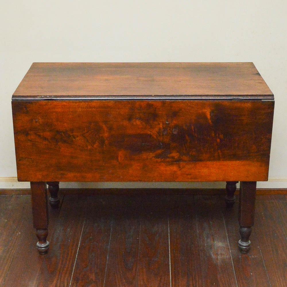 Antique Walnut Drop-Leaf Table