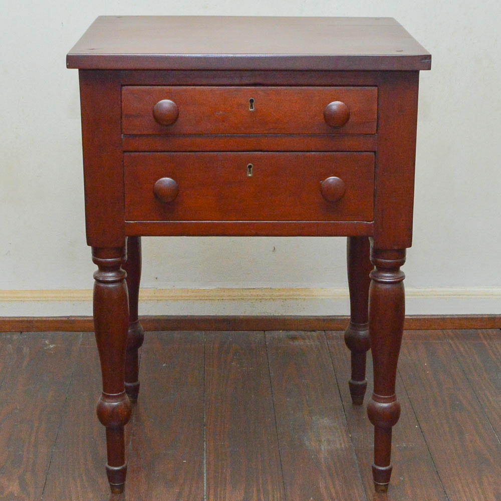 Antique Empire Cherry Side Table