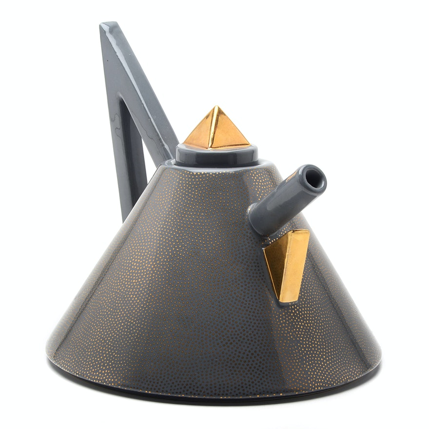 "Matteo Thun Designed ""Nefertiti"" Porcelain Teapot for Memphis Group"