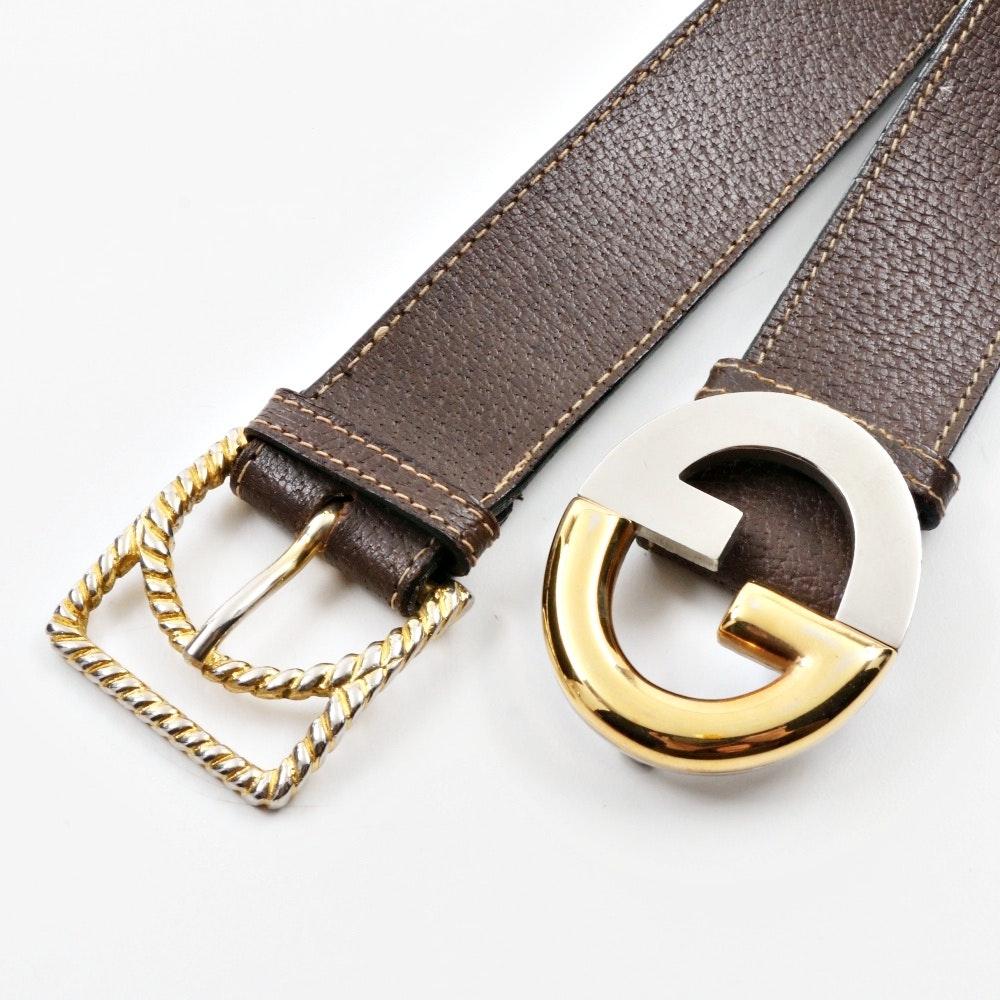 Men's Vintage Gucci Brown Leather Belts