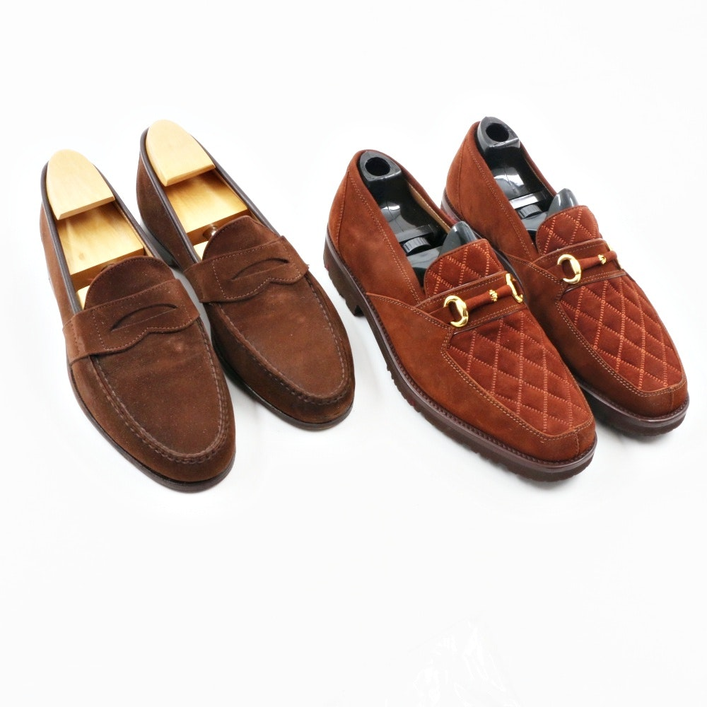 Two Pair of Men's Shoes from Zilli and Cole Haan