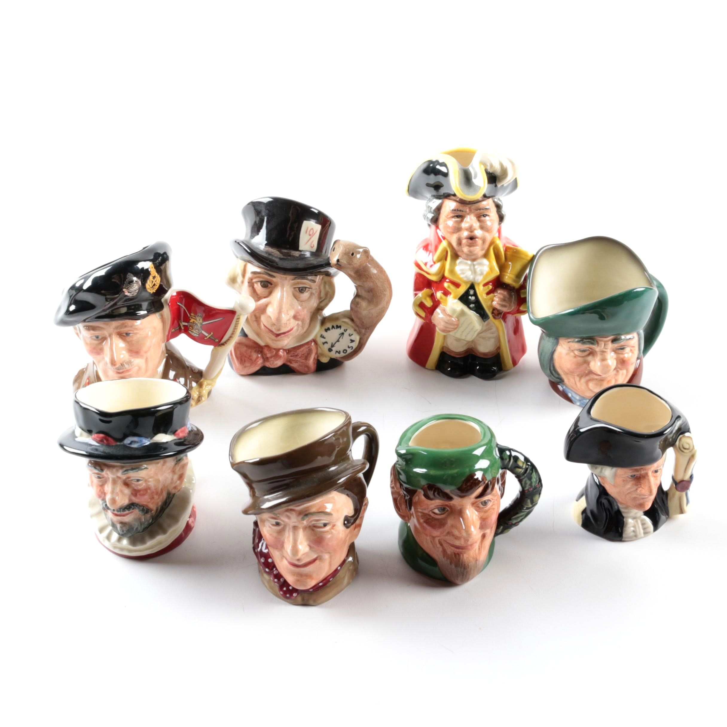 """Royal Doulton Toby Jugs Including """"Viscount Montgomery of Alamein"""" and """"Elf"""""""