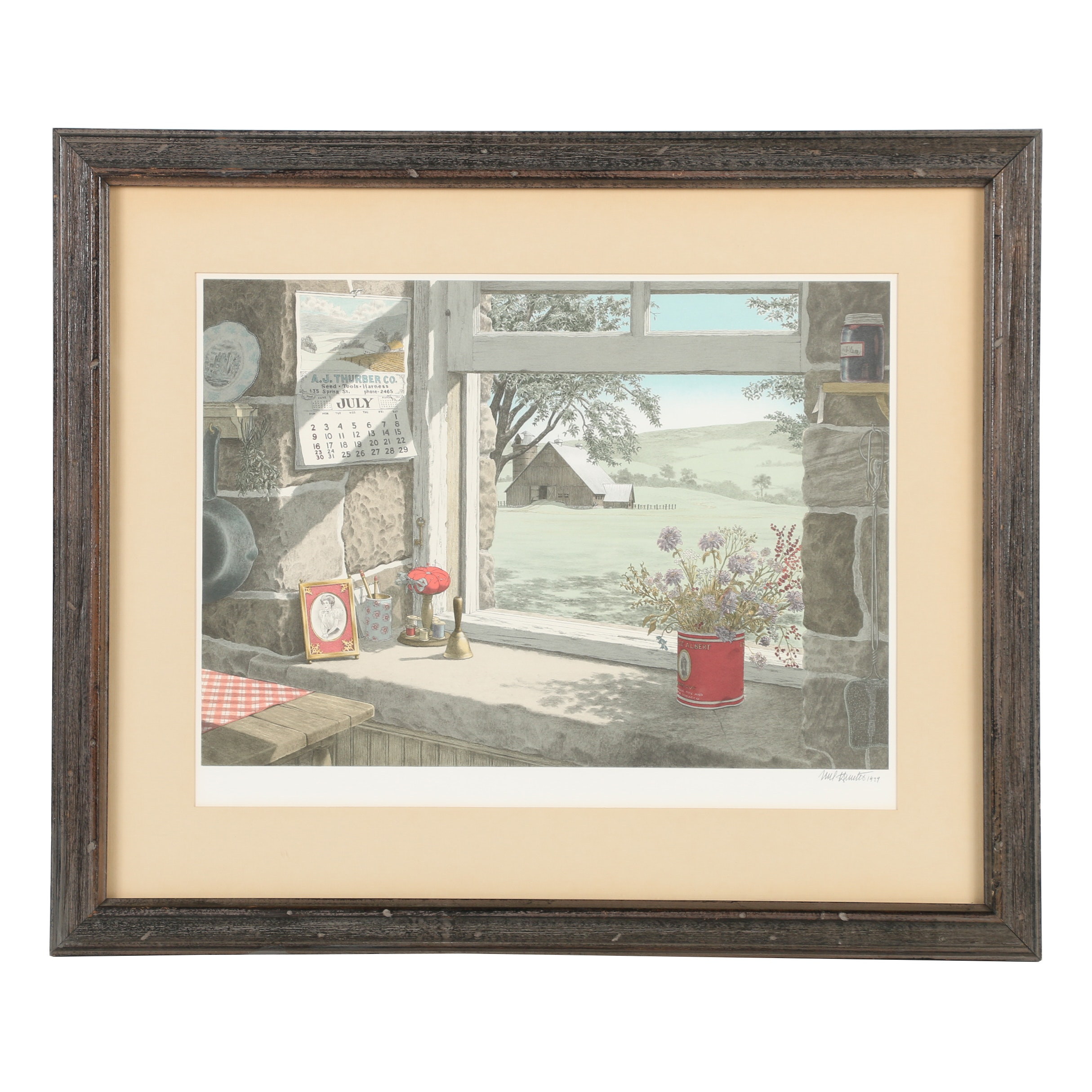 "Mel Hunter Lithograph ""Catherine's Farm"""