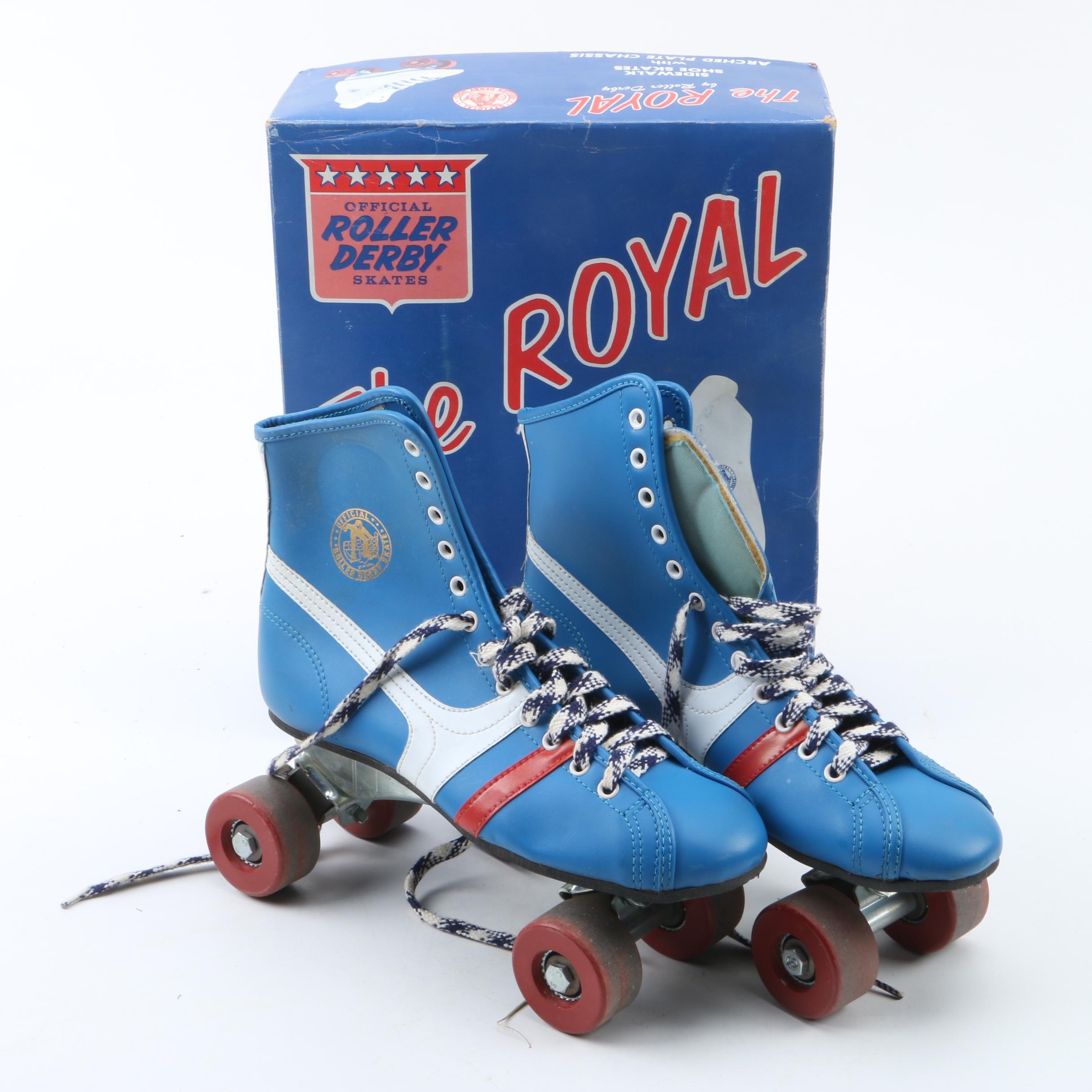 Vintage 1970's The Royal Official Roller Derby Roller Skates