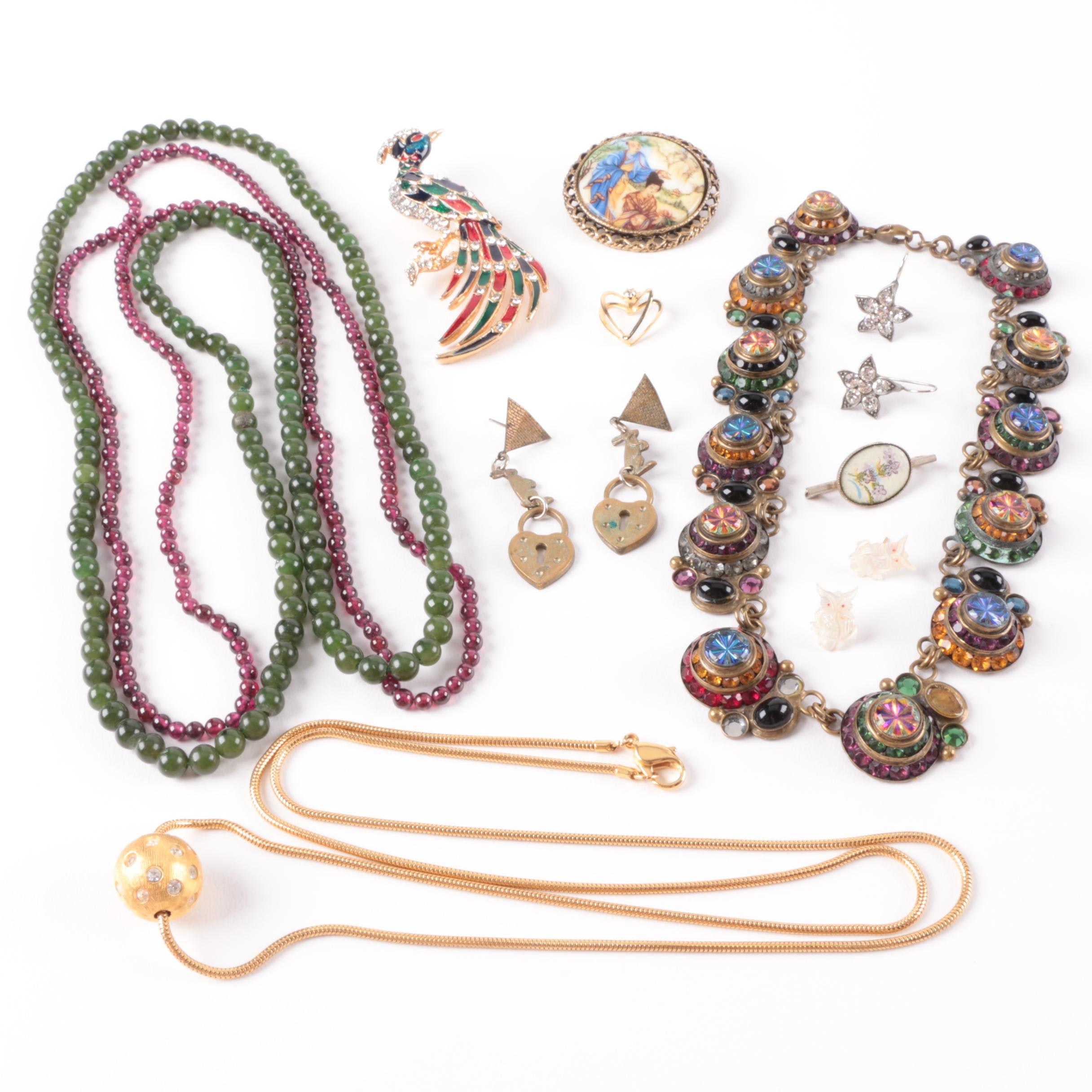 Costume and Gemstone Jewelry Including a Sorrelli Necklaces