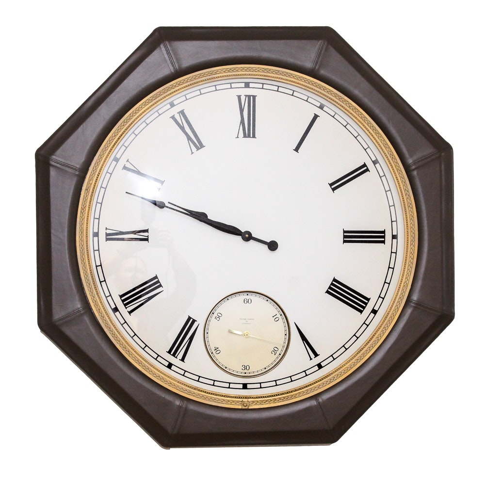 Uttermost Leather Wall Clock