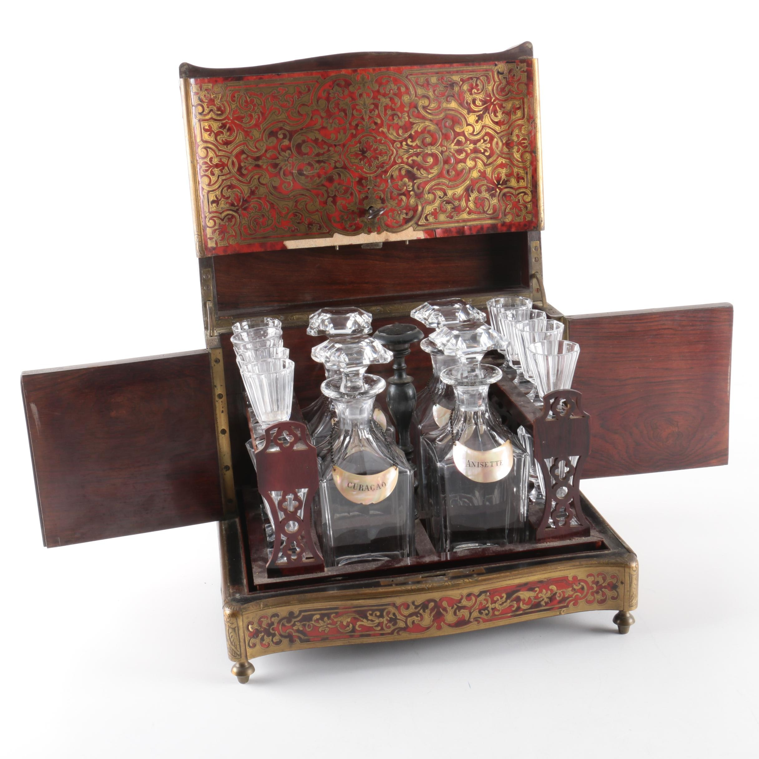 Late 19th Century Boulle Style Cave a Liqueur