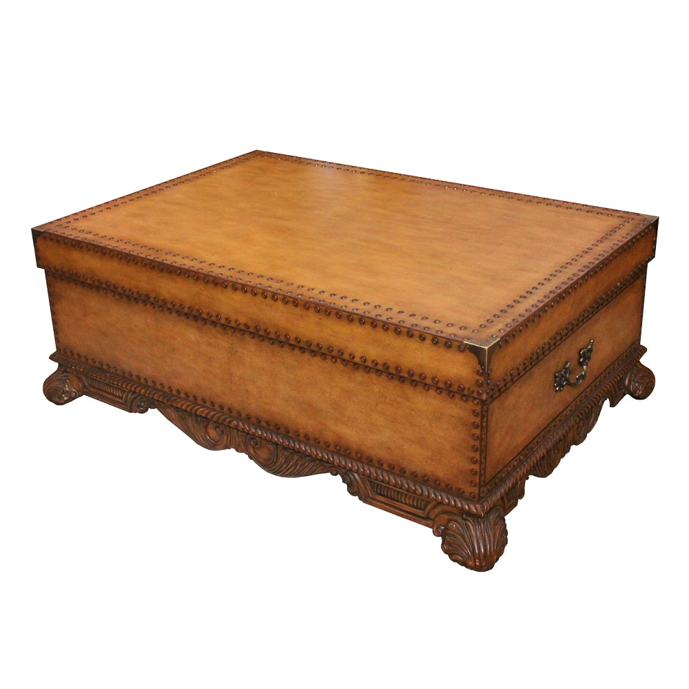 Faux Leather Storage Coffee Table by Touchstone Collections