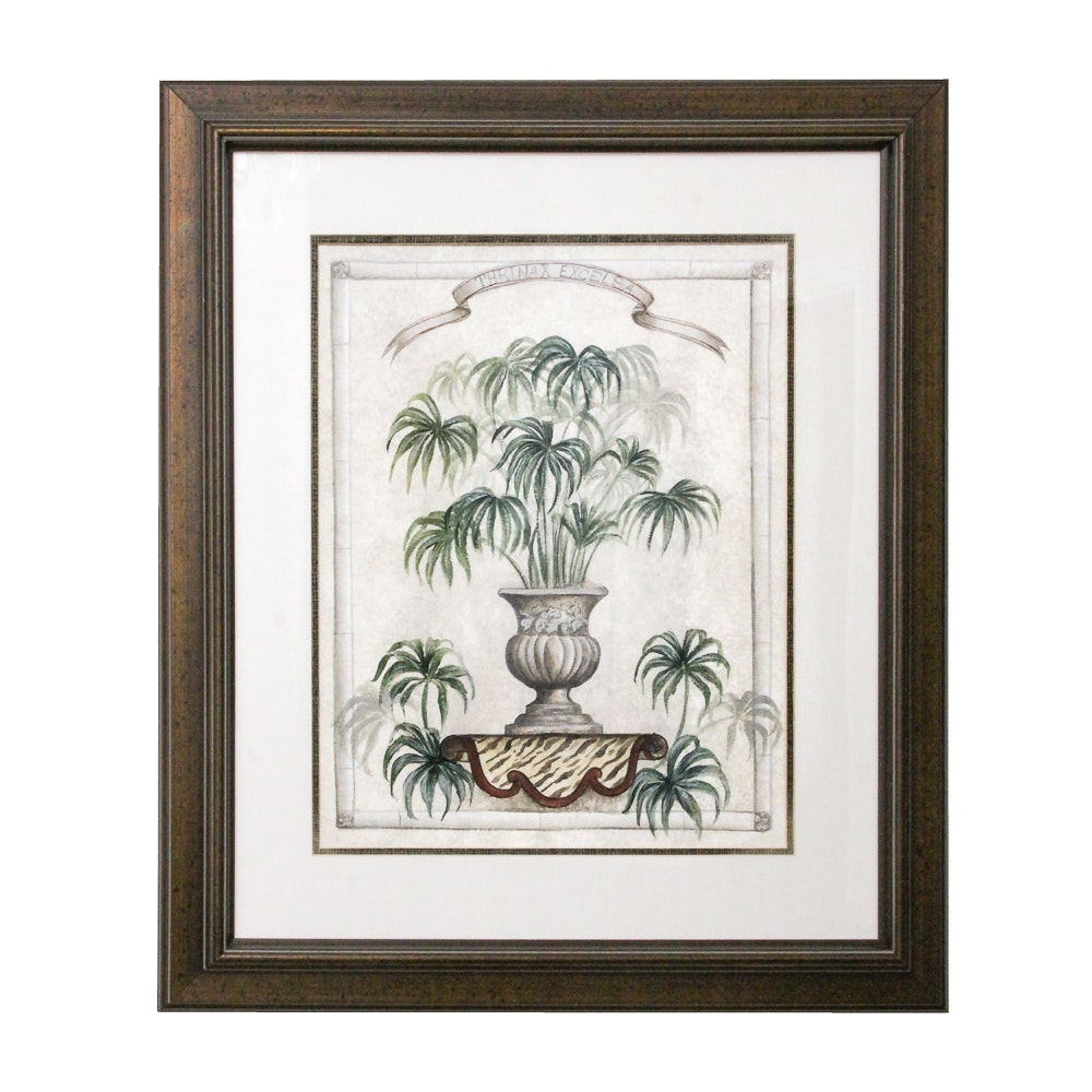 """Offset Lithographic Print """"Thrinax Excelsa"""""""
