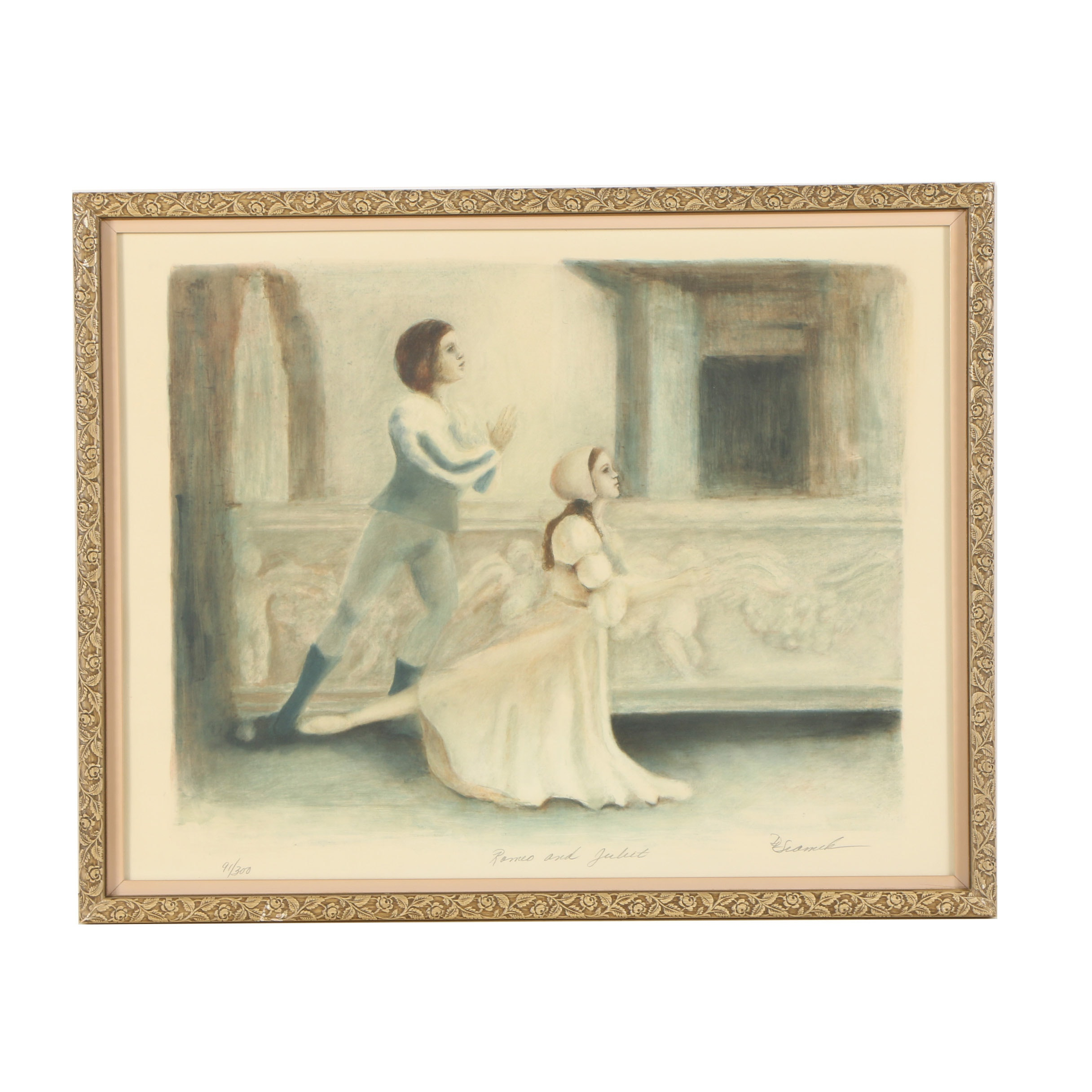 "Donna Sramek Lithograph ""Romeo and Juliet"""