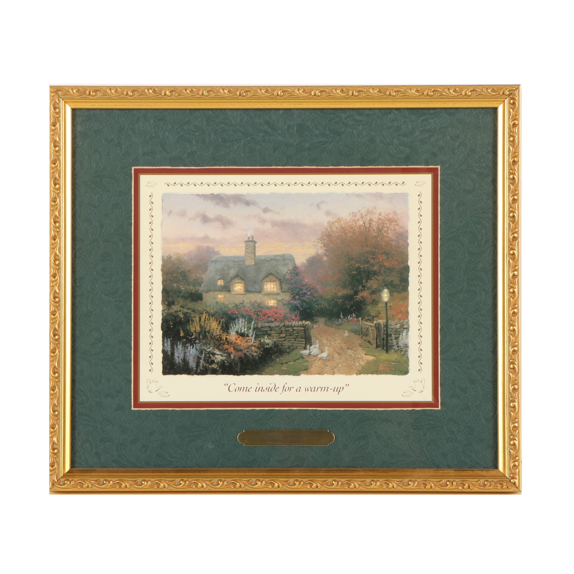 """Thomas Kinkade Offset Lithograph """"Open Gate, Sussex"""""""