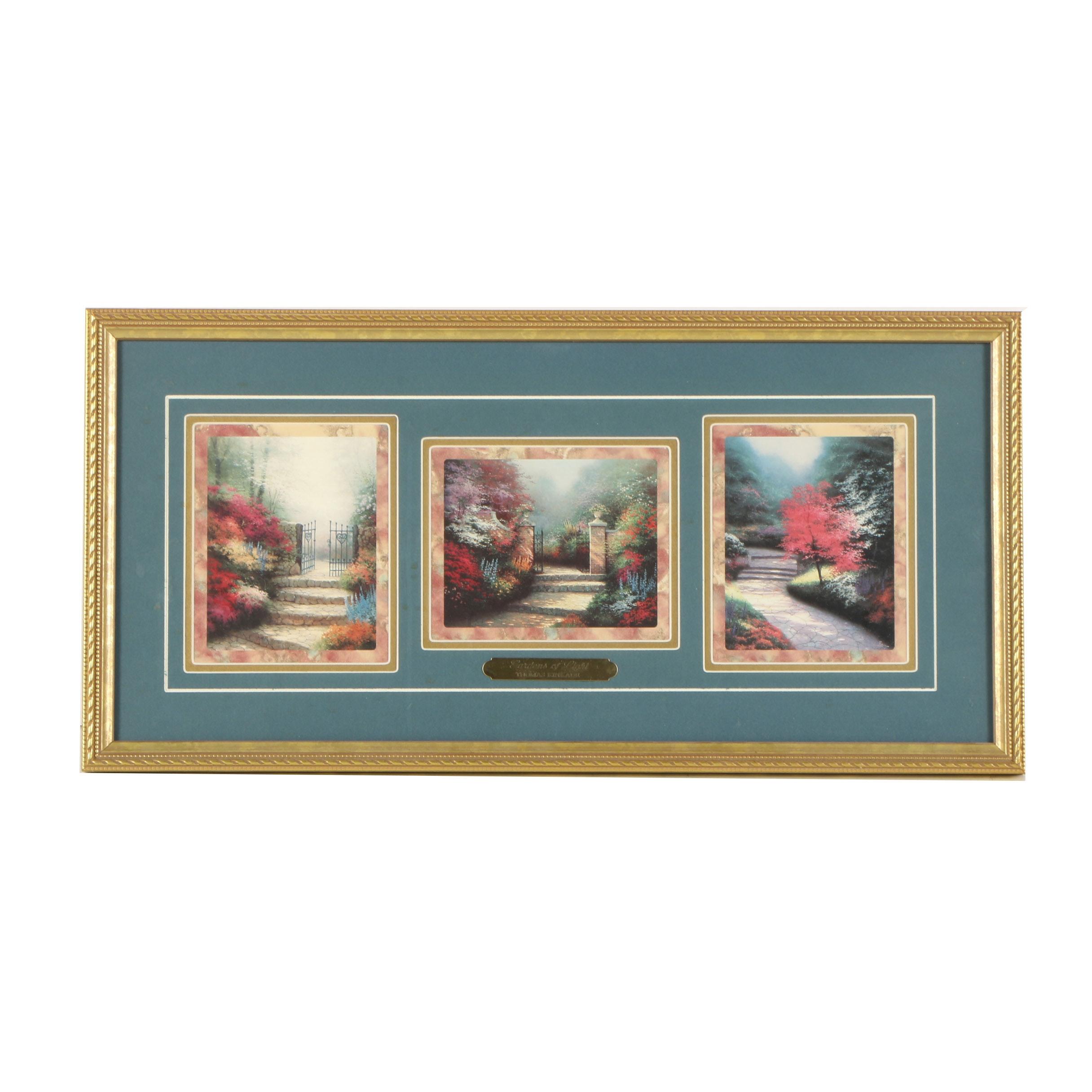 "Thomas Kinkade Offset Lithograph ""Gardens of Light"""