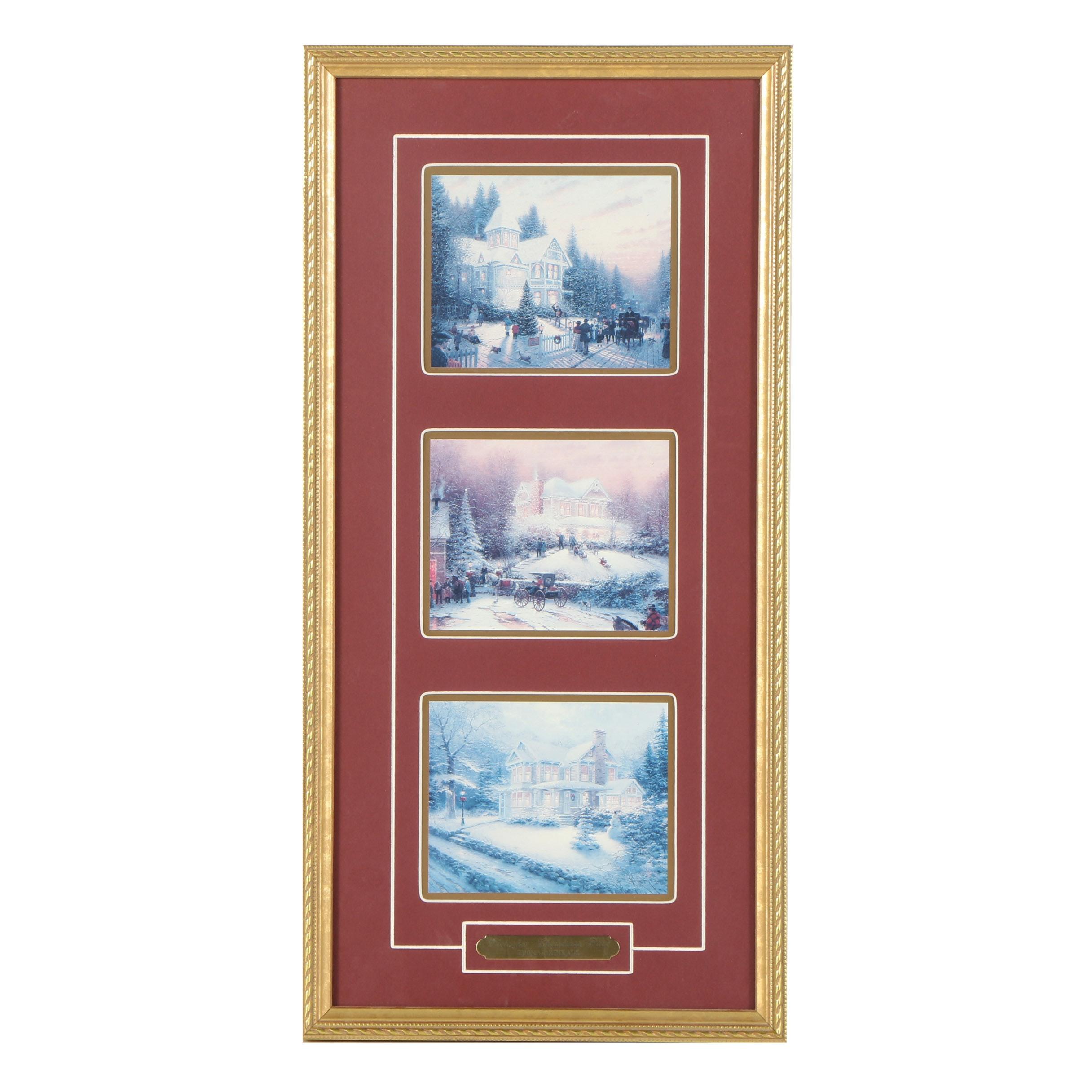 "Thomas Kinkade Offset Lithograph ""Victorian Christmas Past"""